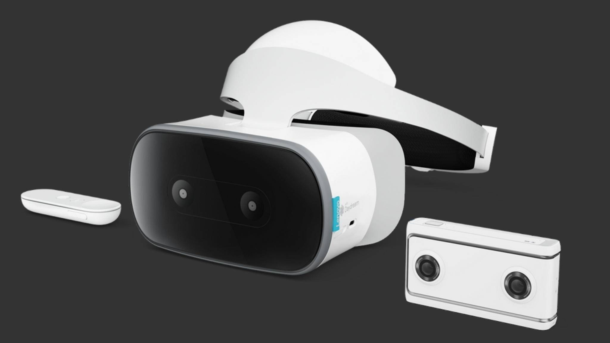 Die VR-Brille Lenovo Mirage bietet kabelloses Raumtracking.