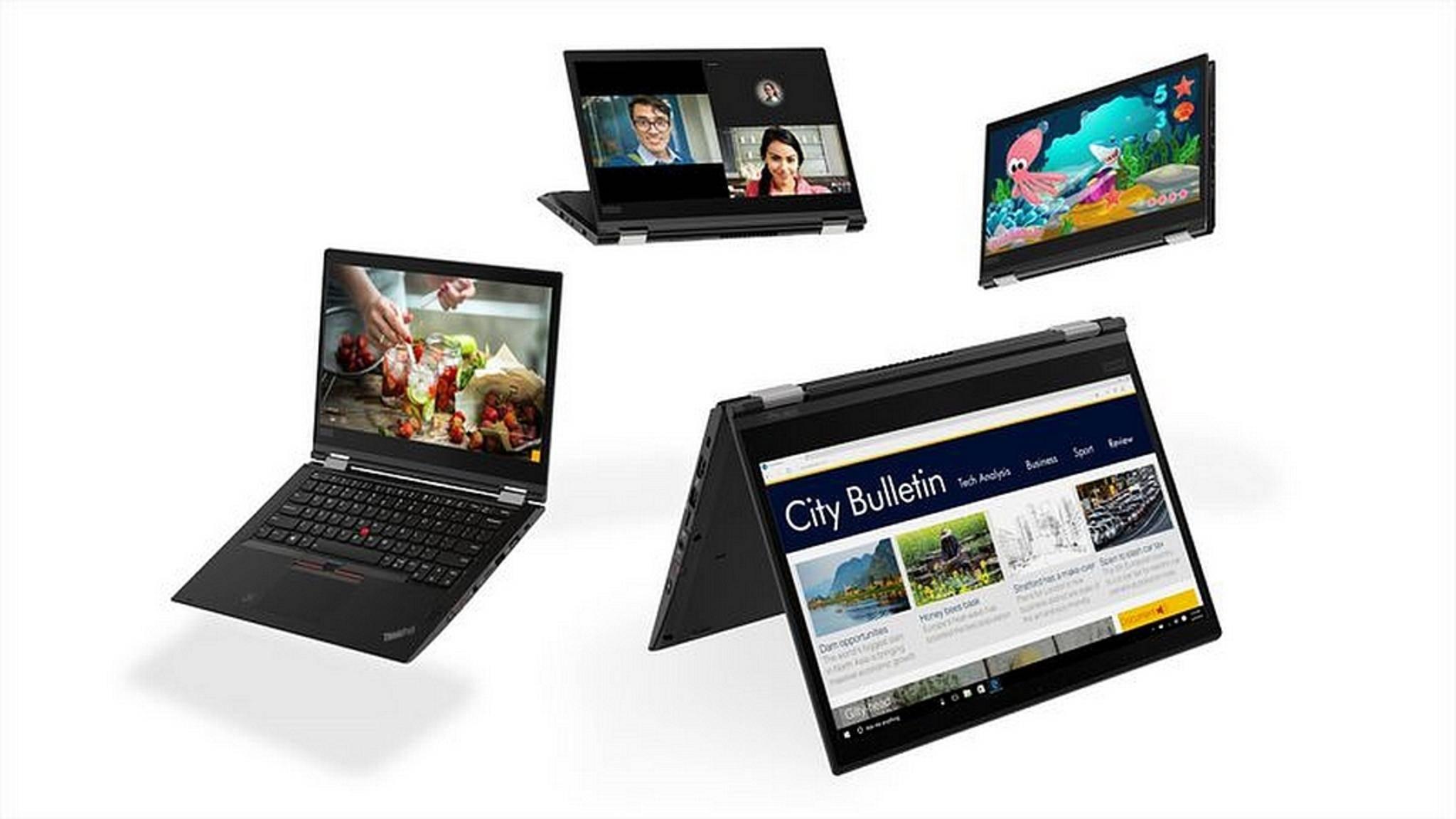 Die neuen ThinkPad-Modelle werden auf der CES vorgestellt.