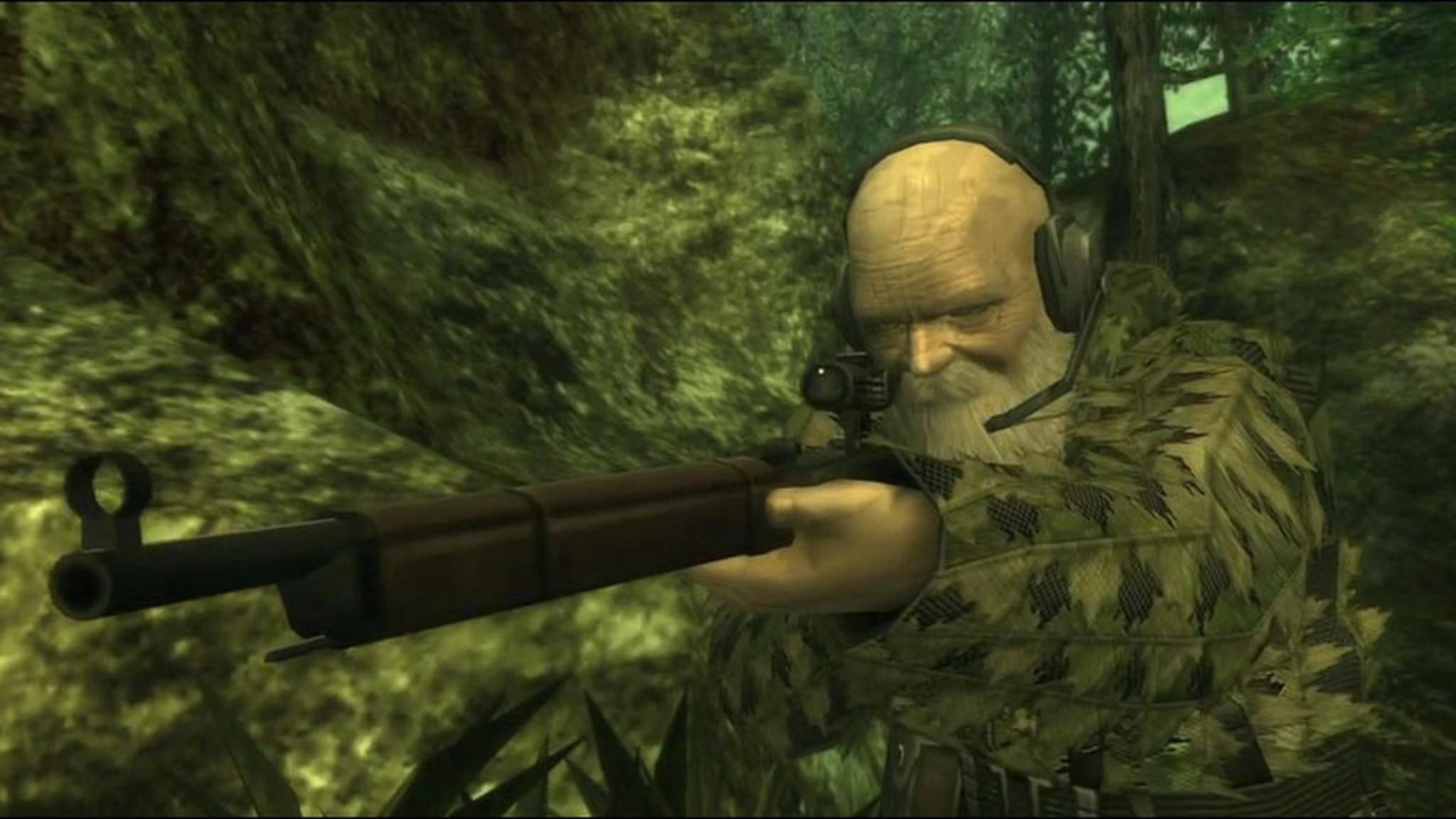 """Mit einem irrsinnigen Trick besiegst Du diesen Bossgegner in """"Metal Gear Solid 3"""" ohne Kampf."""