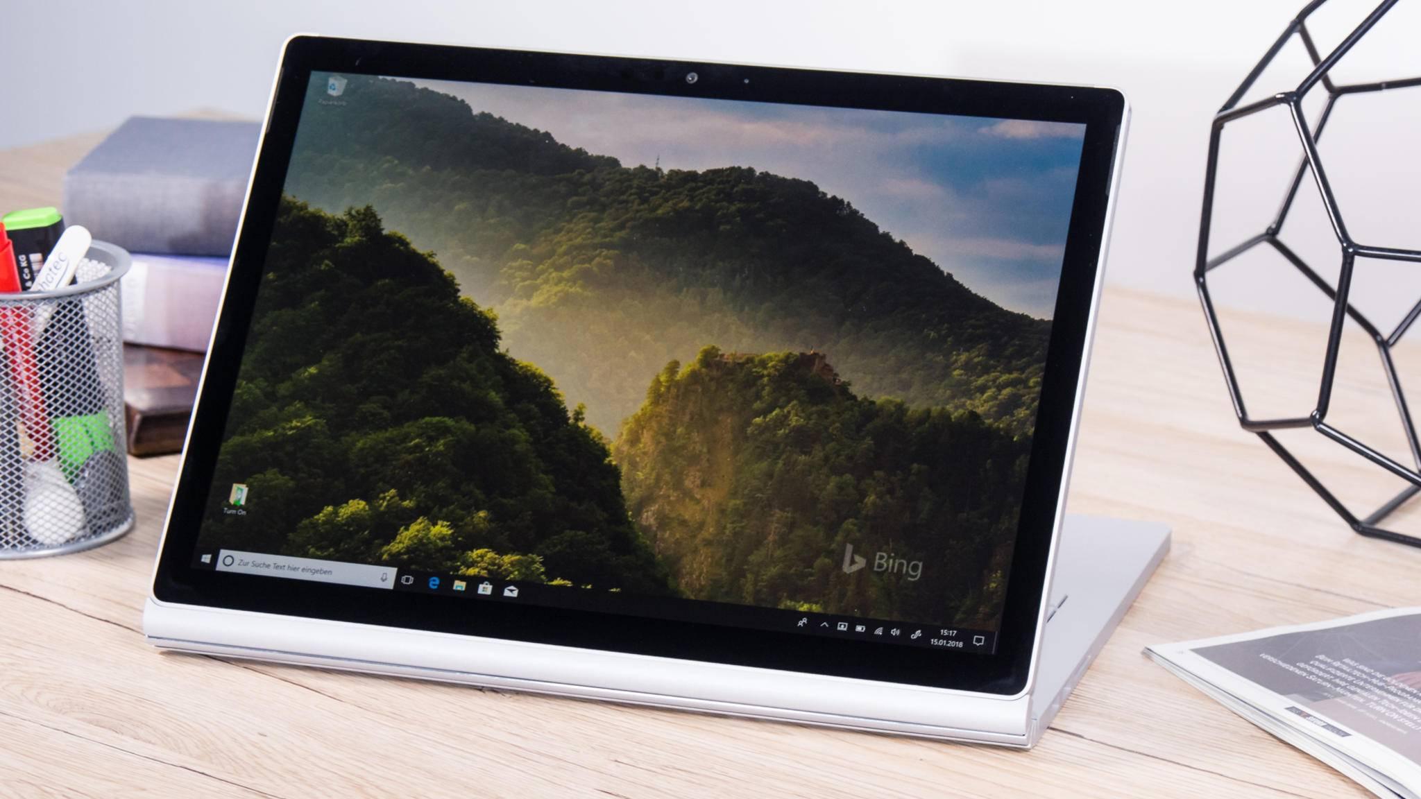 Das Surface Book 3 ist wohl deutlich leistungsfähiger als sein Vorgänger, das Surface Book 2 (Foto).