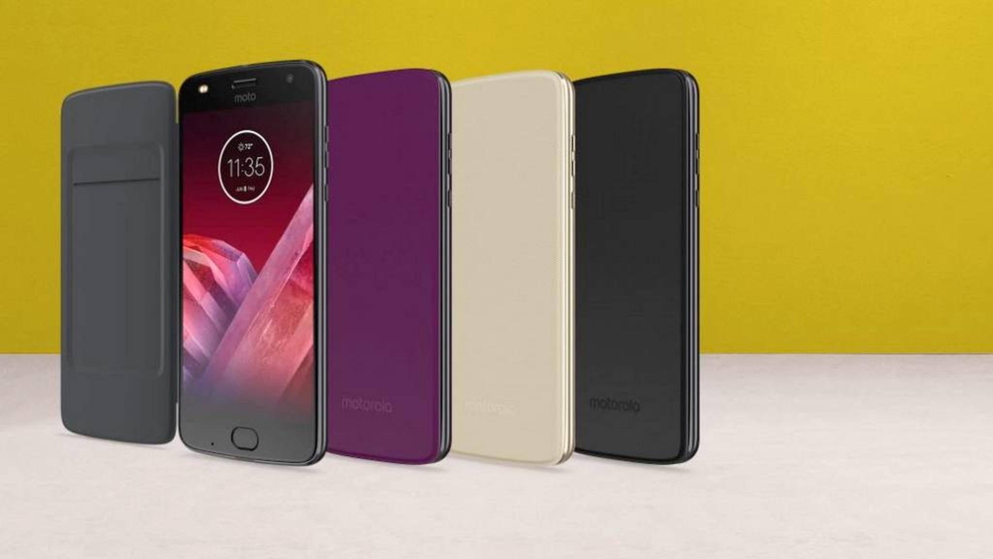 Das Moto Folio ist ein Flip-Case für Moto-Z-Smartphones.