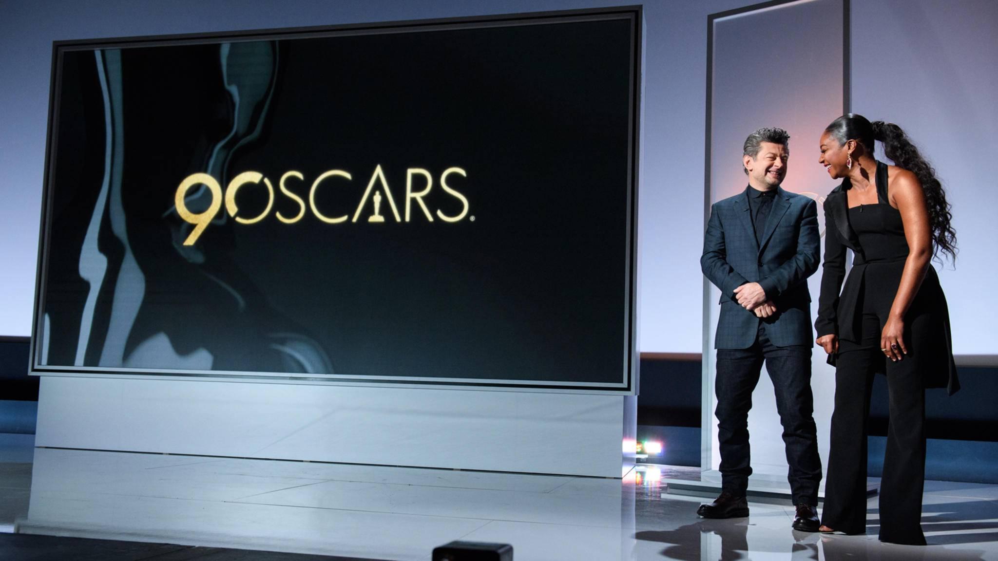 Andy Serkis und Tiffany Haddish präsentierten die Nominierten der Oscars 2018.