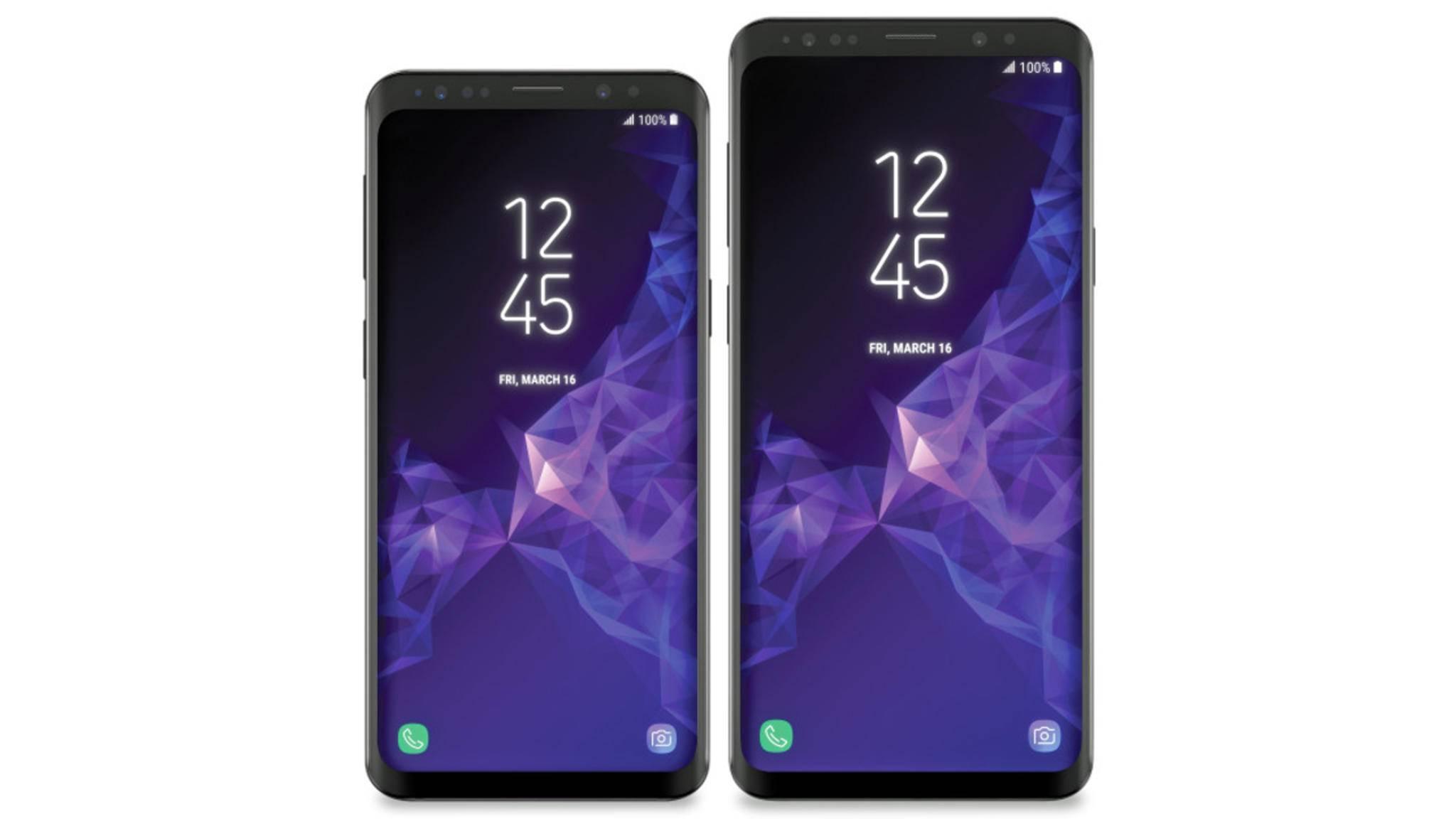 Das Galaxy S9 soll dickere Displayränder an der Seite, dafür dünnere Ränder oben und unten mitbringen.
