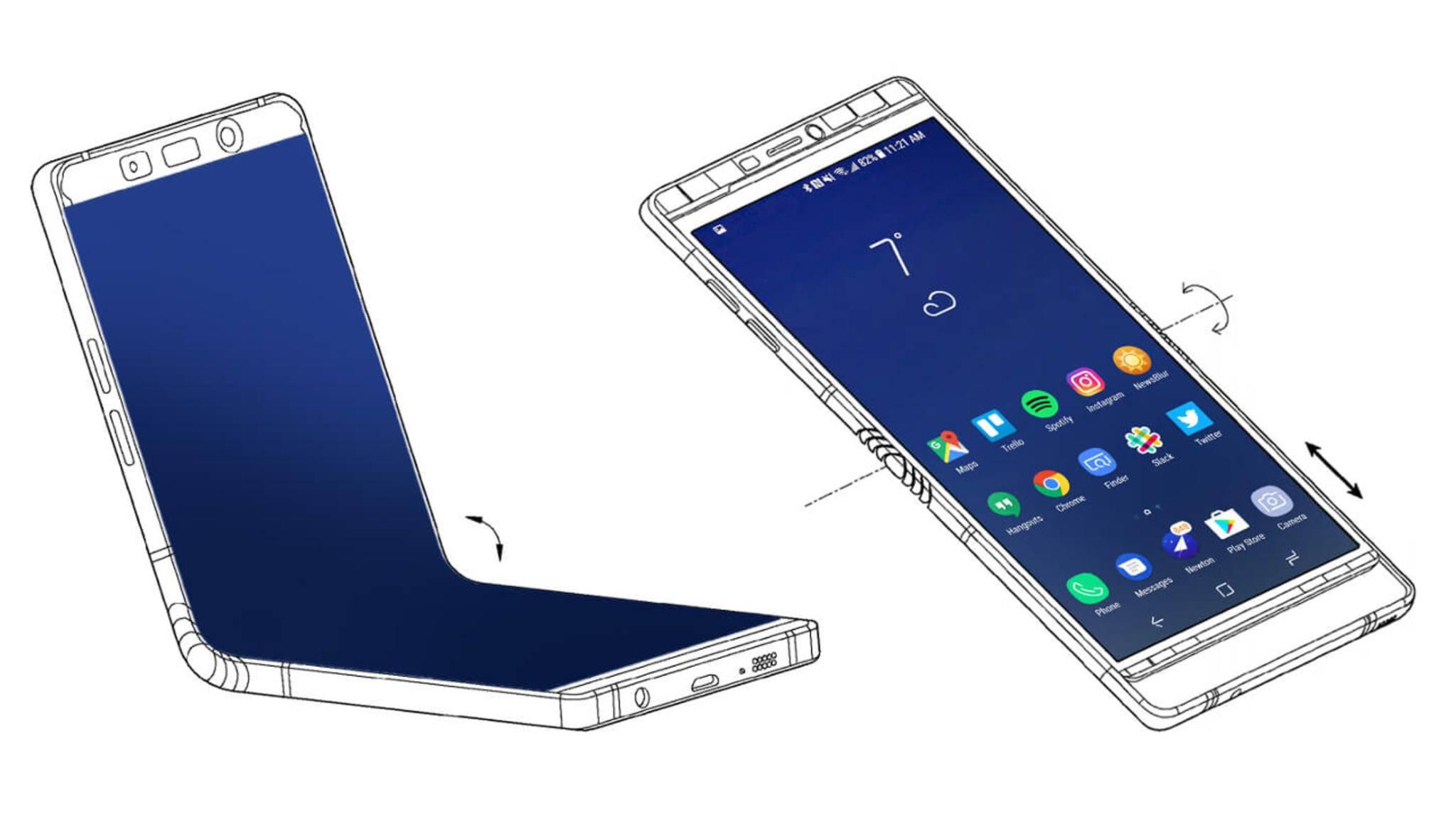 So könnte das Galaxy X laut Patent aussehen.