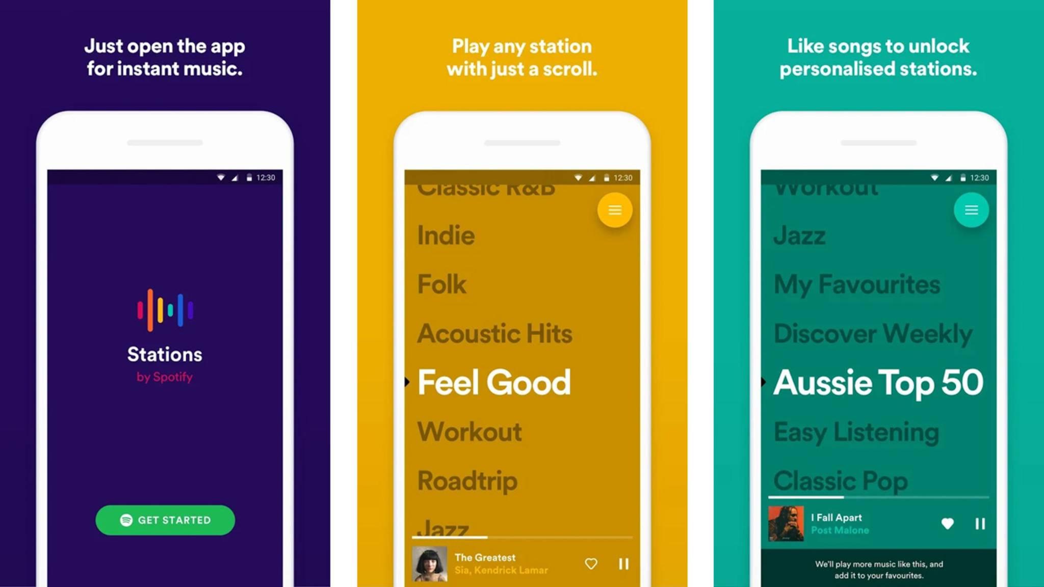 Spotify hat eine neue App veröffentlicht: Stations.