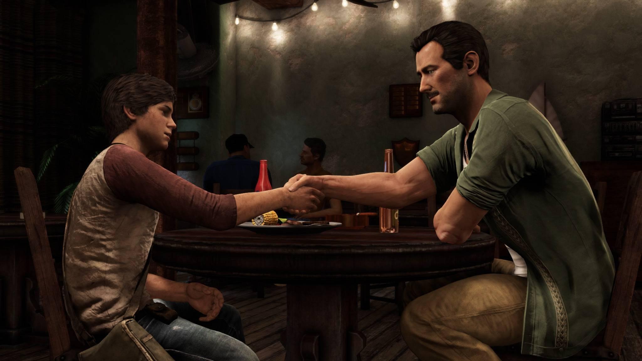 """Laut """"Uncharted 3: Drakes Deception"""" ist Sully so etwas wie Nates Ziehvater – doch im ersten Teil war Nate wenig über Sullys (Schein-)Tod betrübt."""