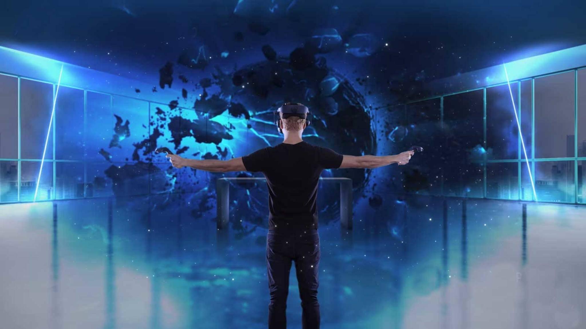 Die HTC Vive Pro, die in Las Vegas vorgestellt wurde, kann VR-Spiele mit wesentlich besserer Qualität darstellen.