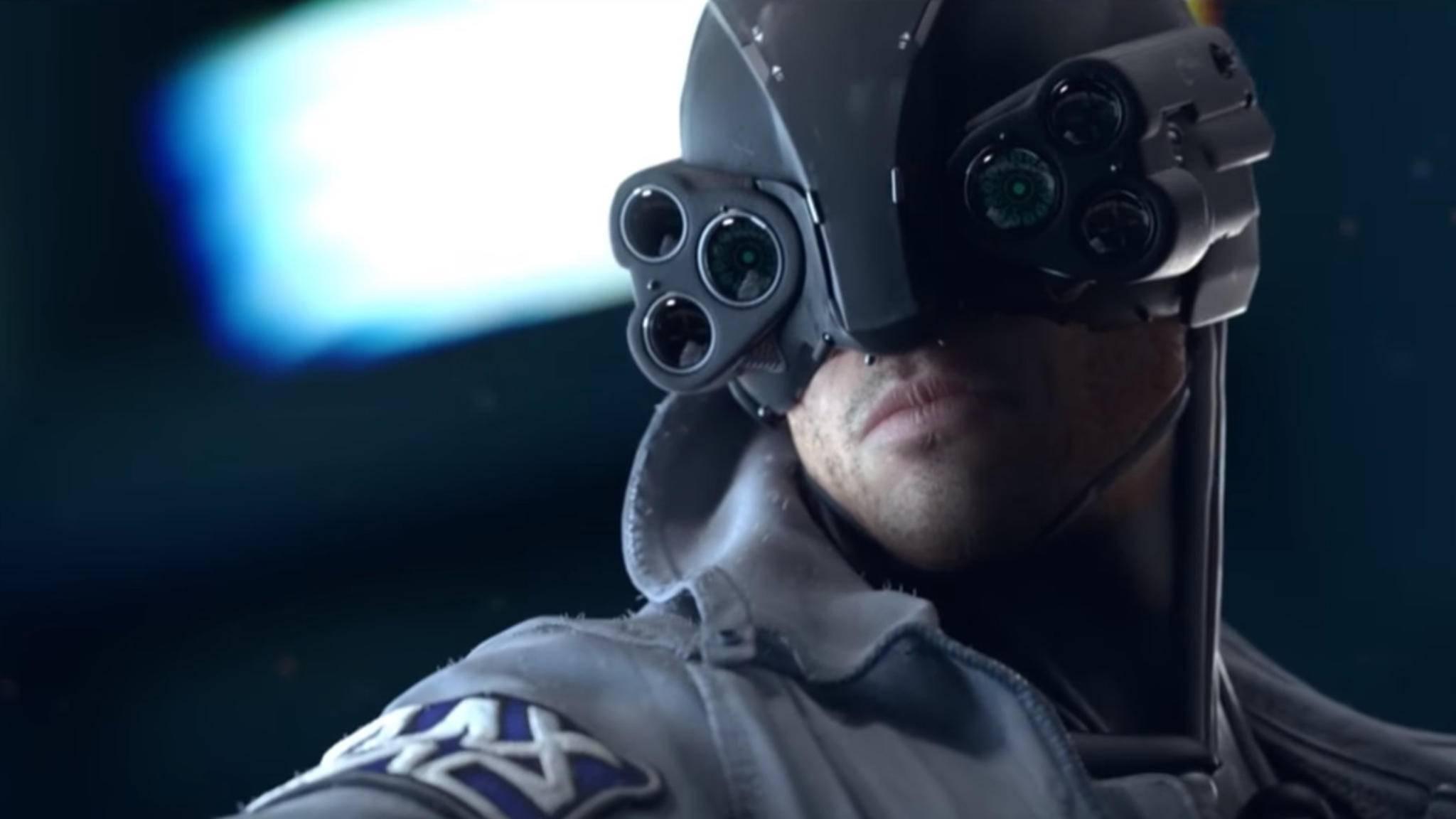 """""""Schöne Brille, selbst gecraftet?"""" – In """"Cyberpunk 2077"""" geht's rollenspieltypisch zu."""