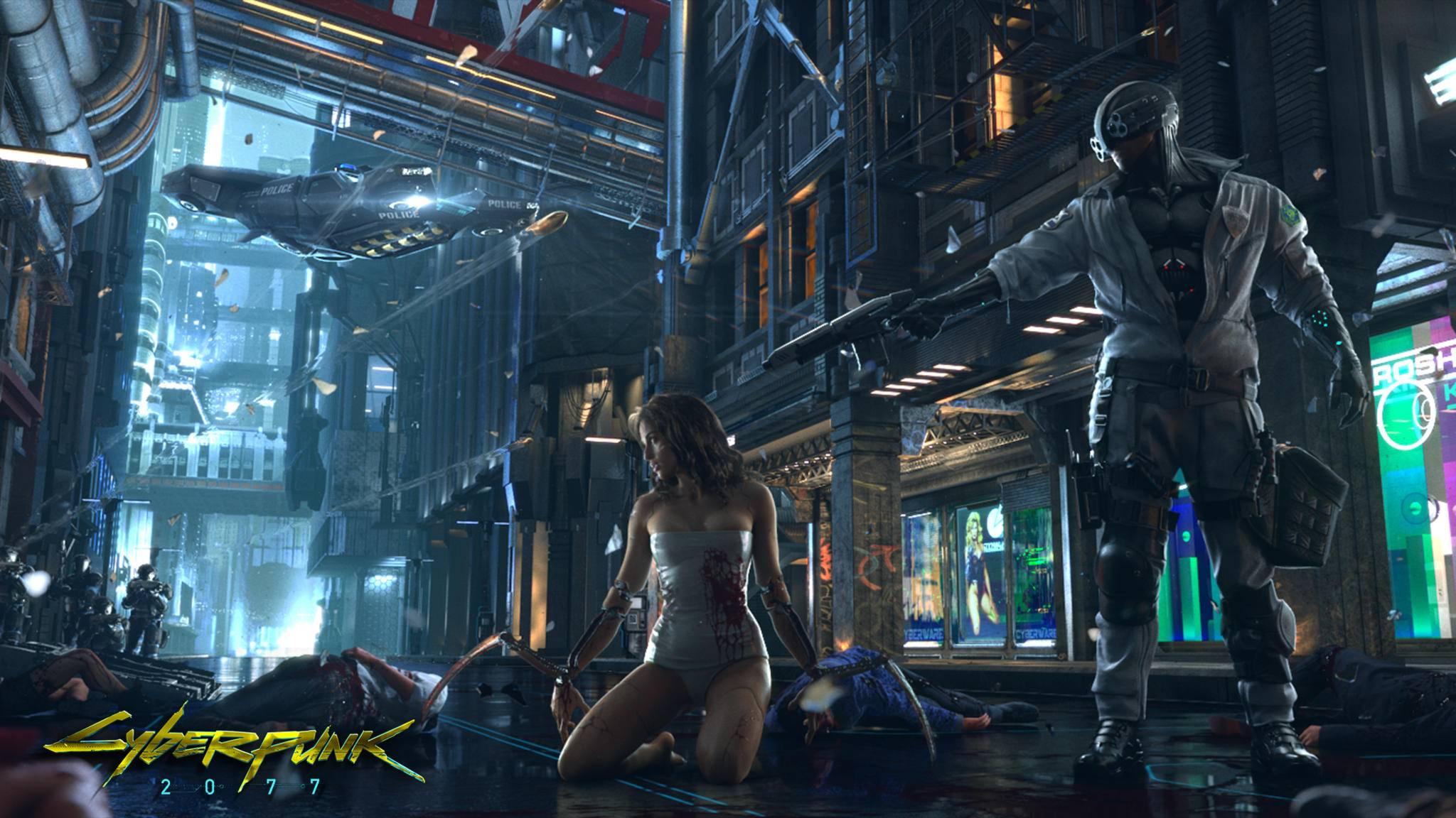 """""""Cyberpunk 2077"""" spielt in einer düsteren Vision der Zukunft."""