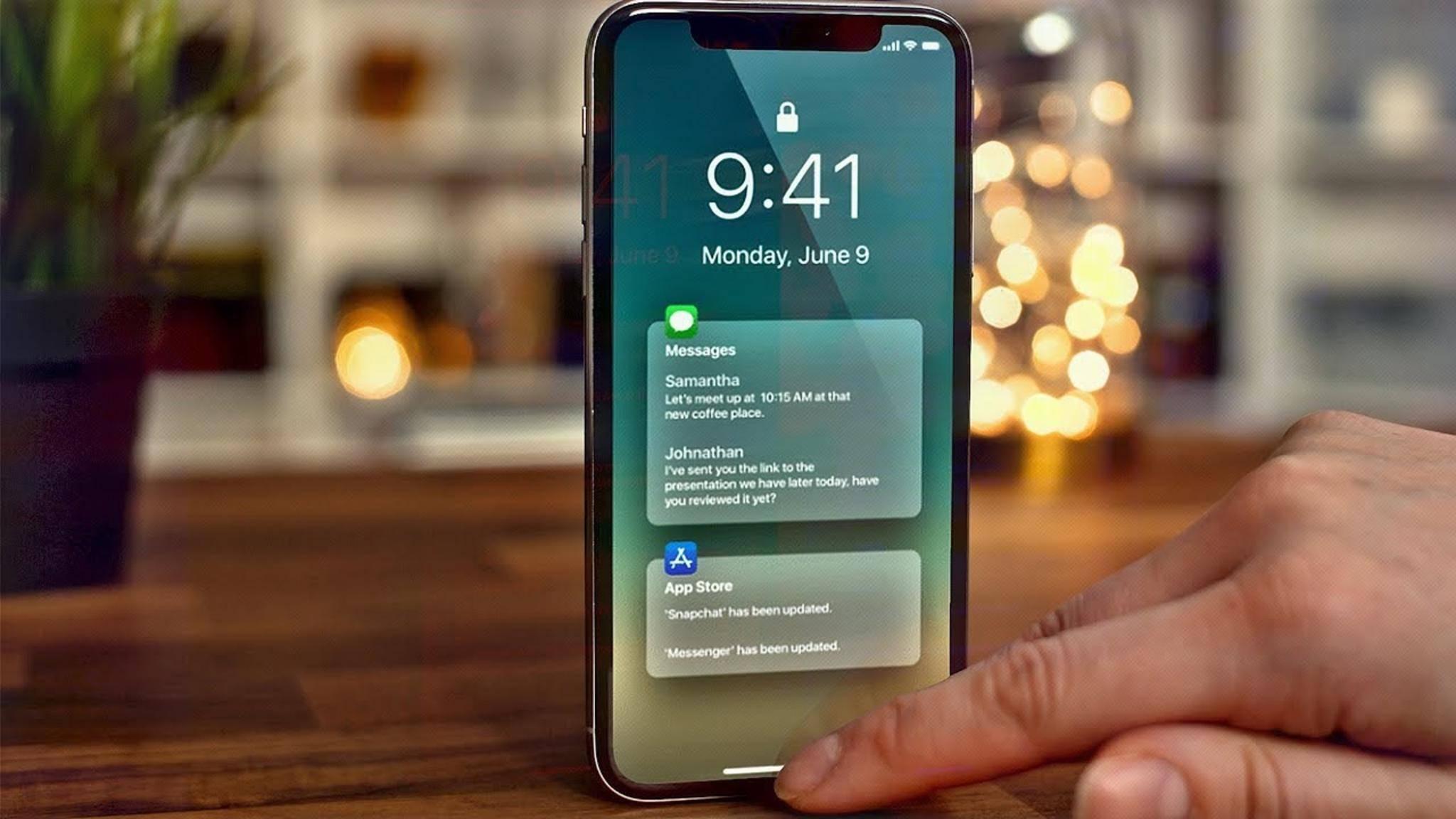 iOS 12 (Konzeptbild) soll wieder runder laufen als iOS 11.