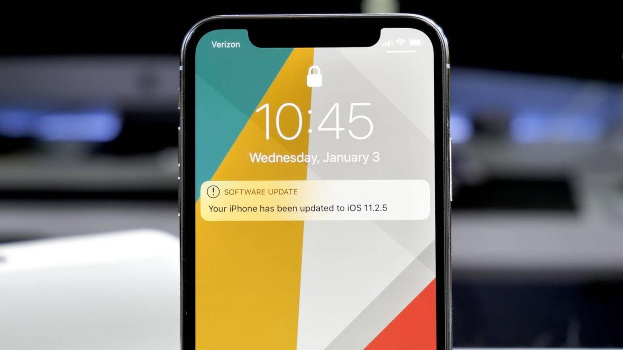 Kein Weg zurück: Versionen vor iOS 11.2.5 werden nicht mehr signiert.