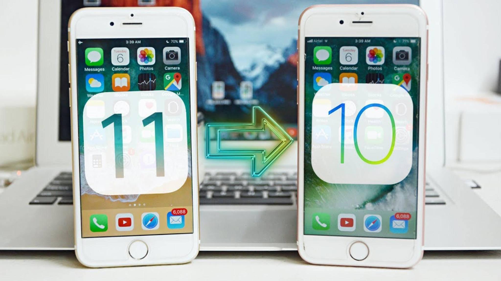 Apple hat überraschend ältere iOS-10-Versionen signiert – zumindest für kurze Zeit