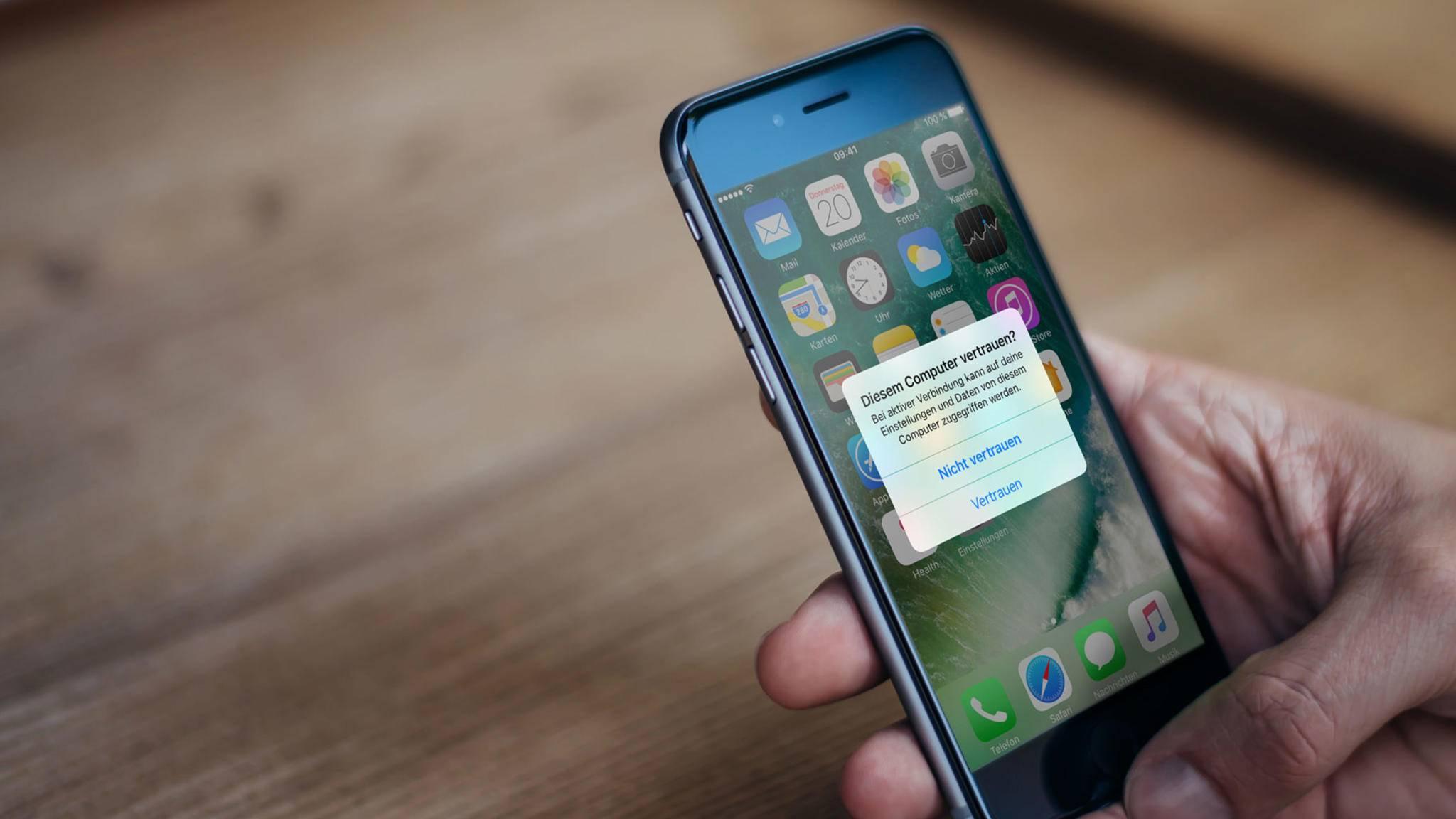Iphone Pc Vertrauen Kommt Nicht