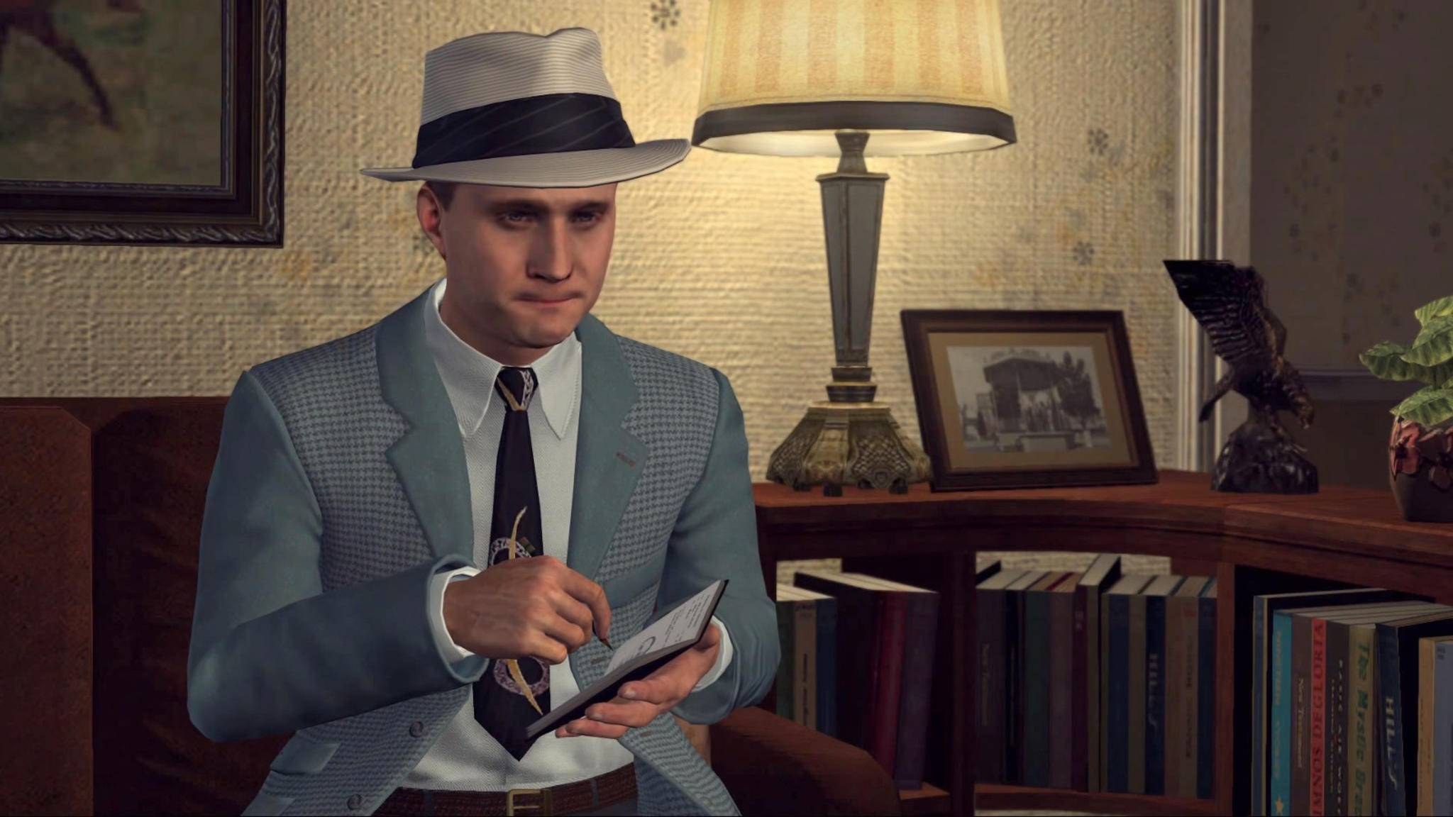 """Als Detektiv in """"L.A. Noire"""" musst Du in den Gesichtern von Verdächtigen lesen, ob sie die Wahrheit sagen. Schöne Idee – aber wirklich gut funktioniert das nicht."""