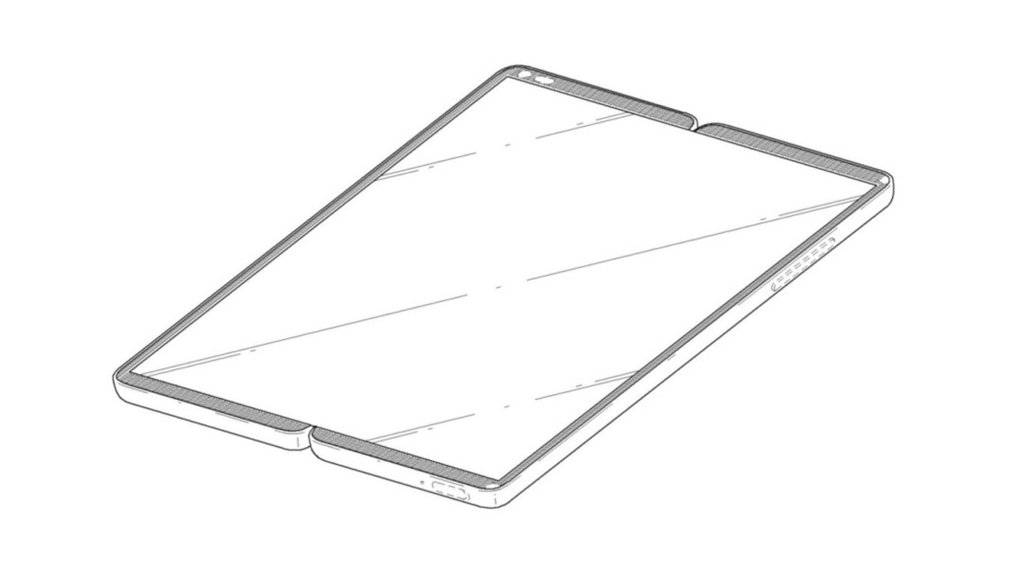 Im ausgeklappten Zustand könnte das faltbare Smartphone von LG einen Screen mit Tablet-Größe besitzen.