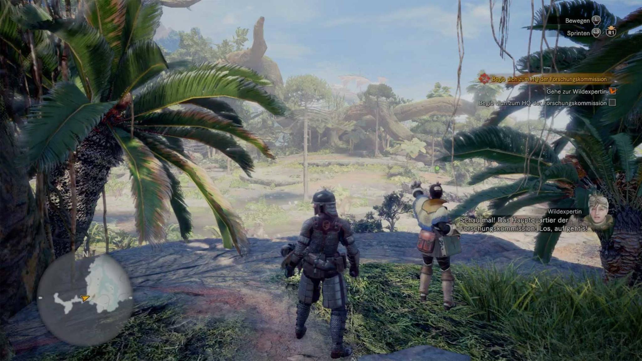 """""""Monster Hunter World"""" macht im Koop viel Spaß, funktioniert aber auch als Solo-Spiel."""