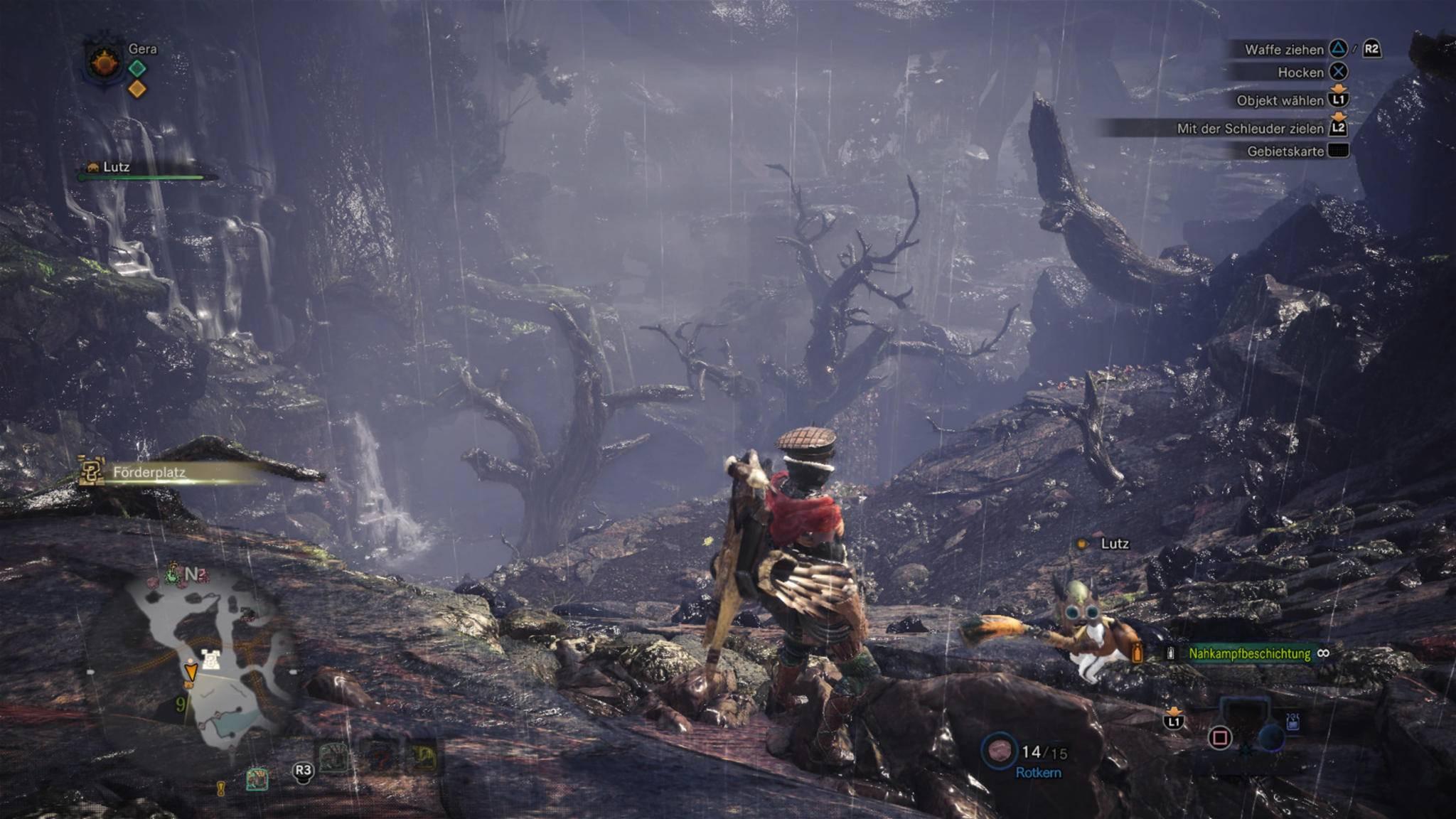 """Um die begehrten Krummen Knochen zu finden, musst Du Dich in """"Monster Hunter World"""" in trostlose Gegenden begeben."""