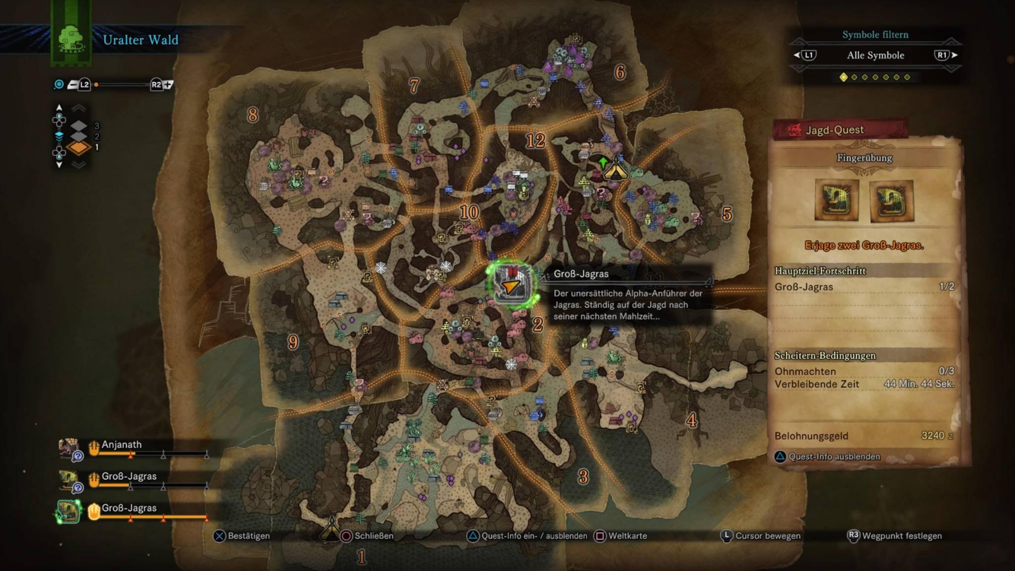 Bis man durch die Markierungen auf der Karte durchblickt, vergehen einige Spielstunden.