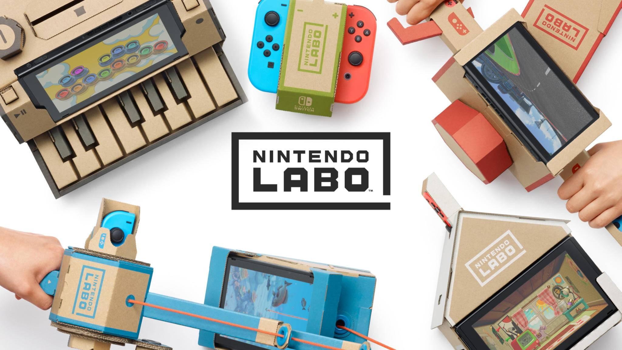 Nintendo stattet seine Labo-Produkte mit passendem Bastelmaterial aus.
