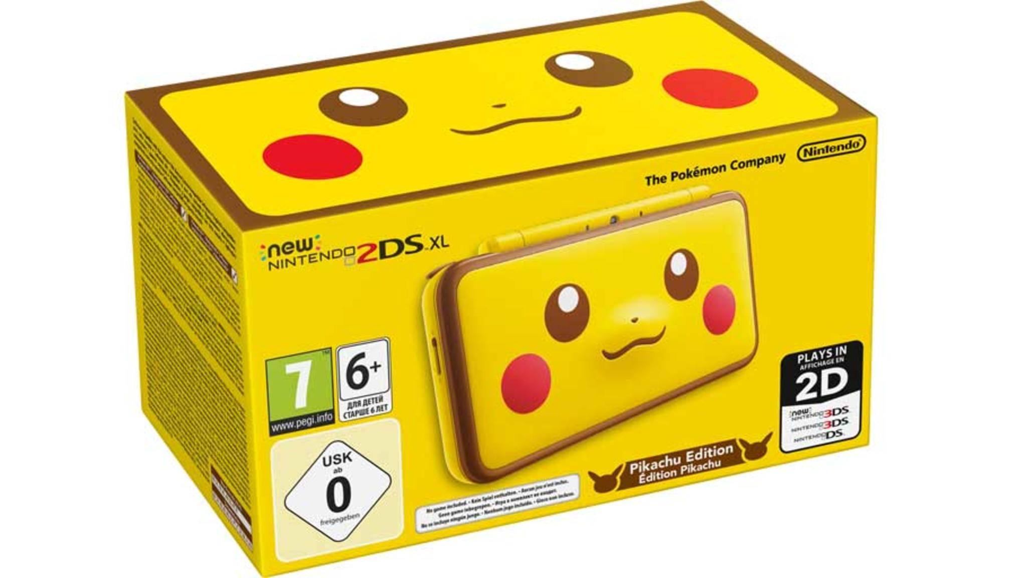 "Perfekt für ""Pokémon""-Fans: DerNew Nintendo 2DS XL Pikachu Edition."