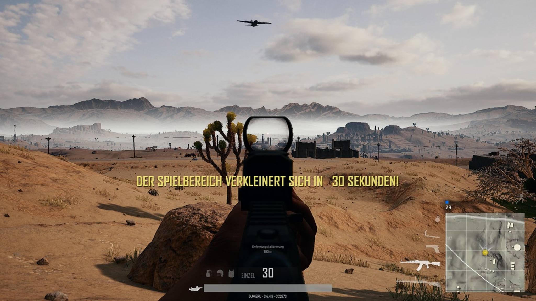 Ab in die Wüste: Die Miramar-Map kommt auf die Xbox One.