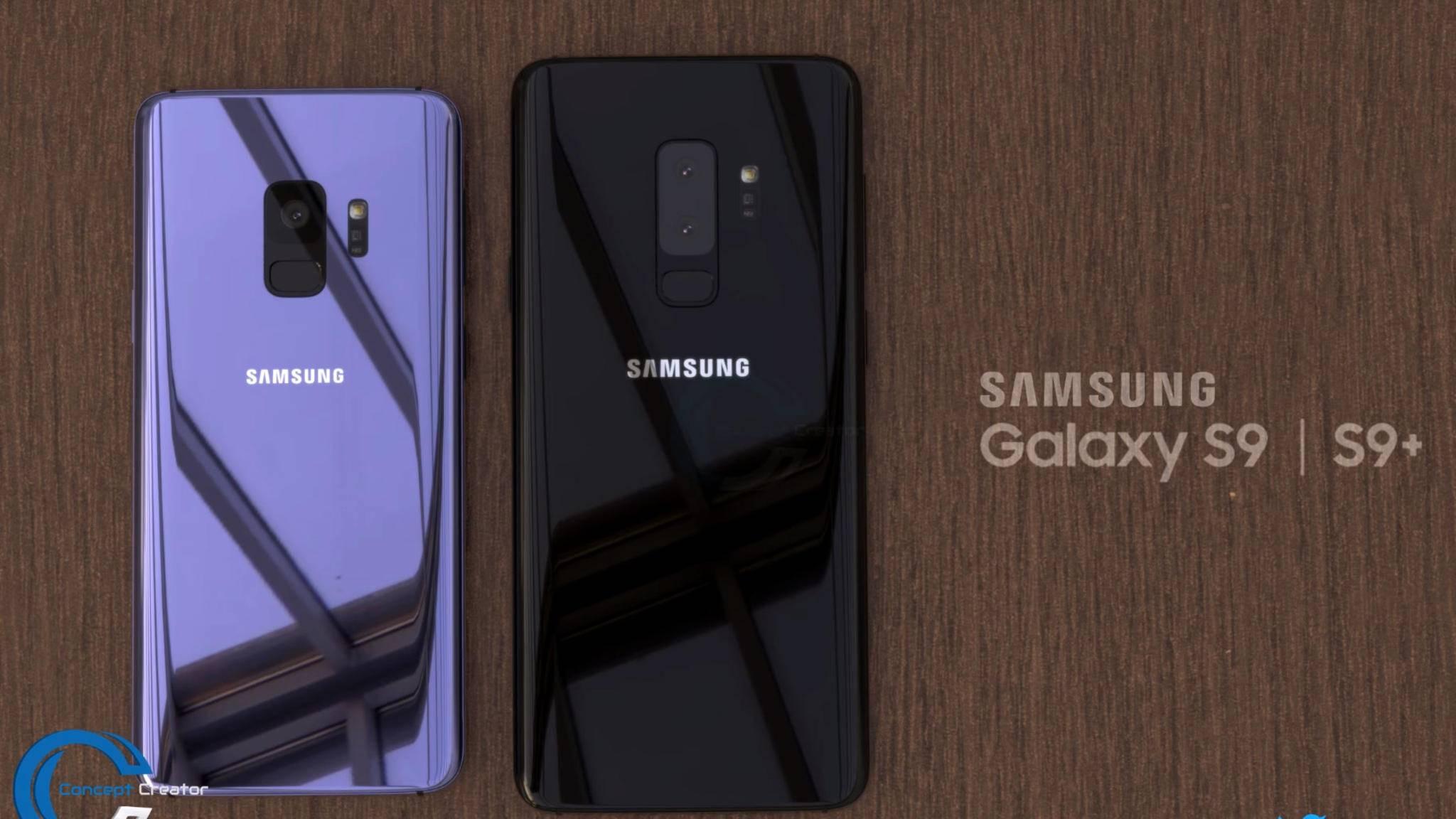 Das ist nicht das echte Galaxy S9, sondern lediglich ein Konzeptbild eines Designers.
