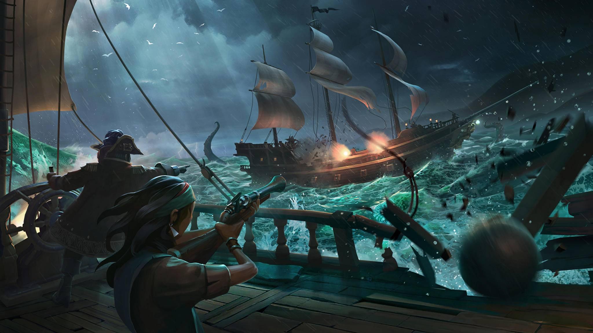 """""""Sea of Thieves"""" erschien am 20. März."""