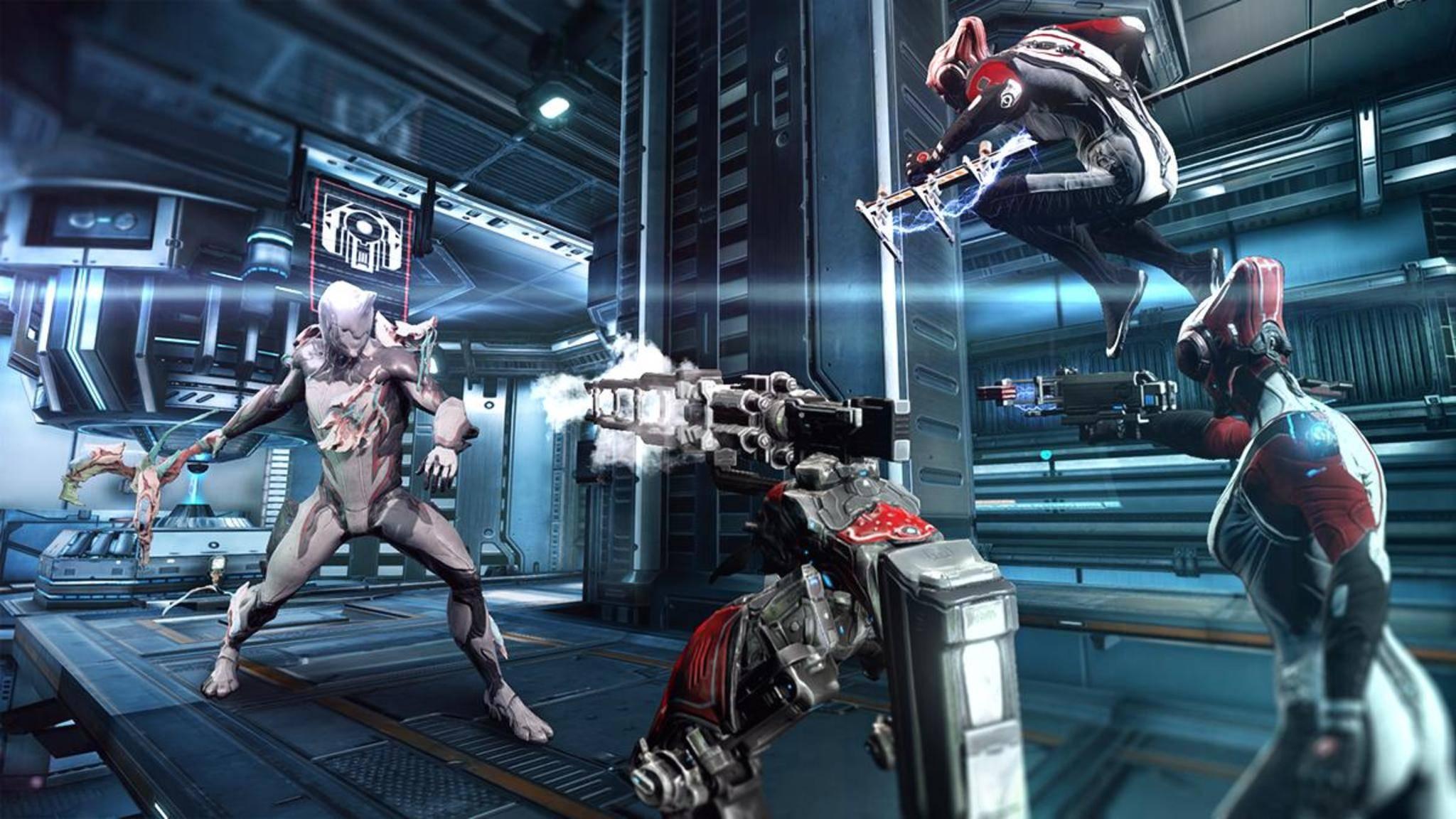 """""""Warframe"""" lässt Sci-Fi-Ninjas gegeneinander antreten."""
