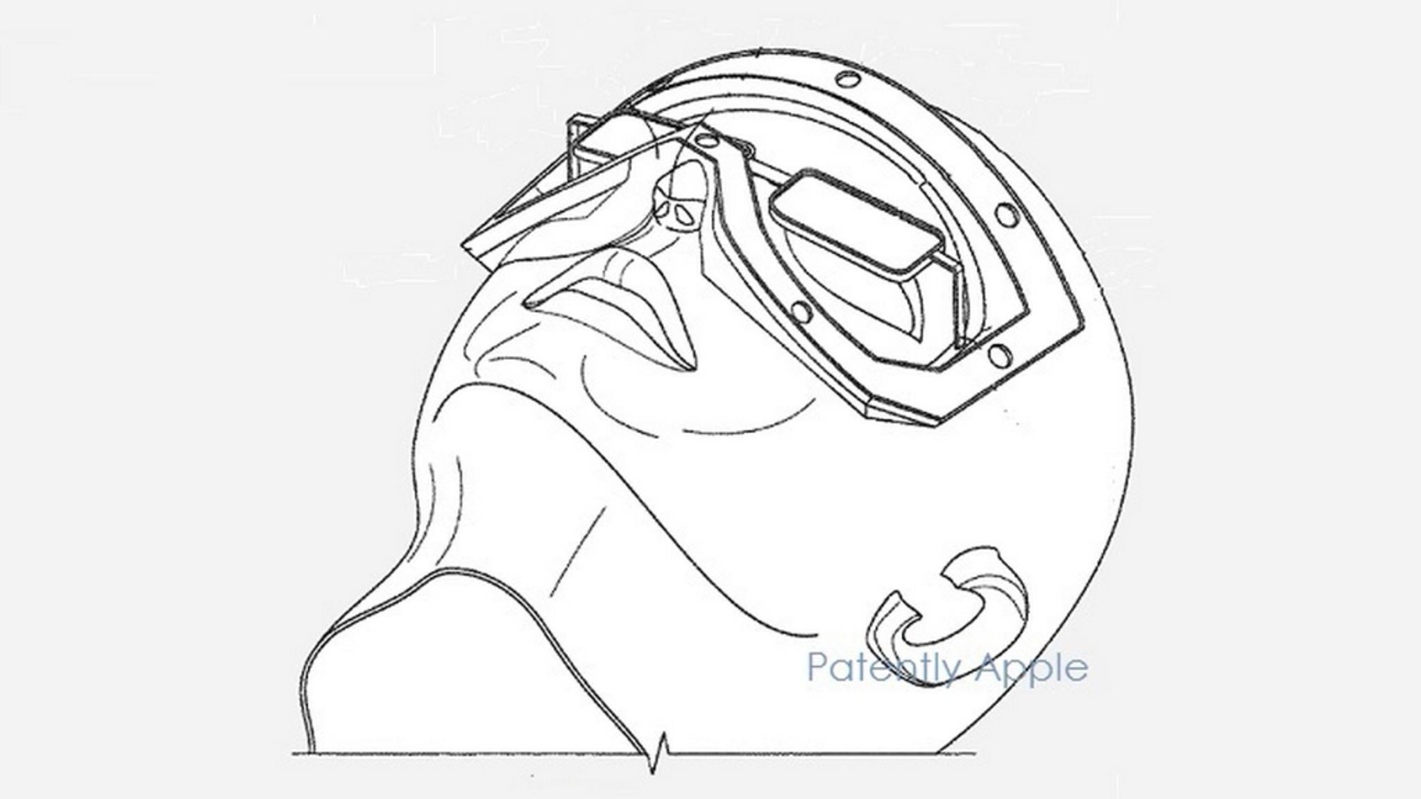 Das Patent zeigt, wie sich Apple eine VR-Brille vorstellt.