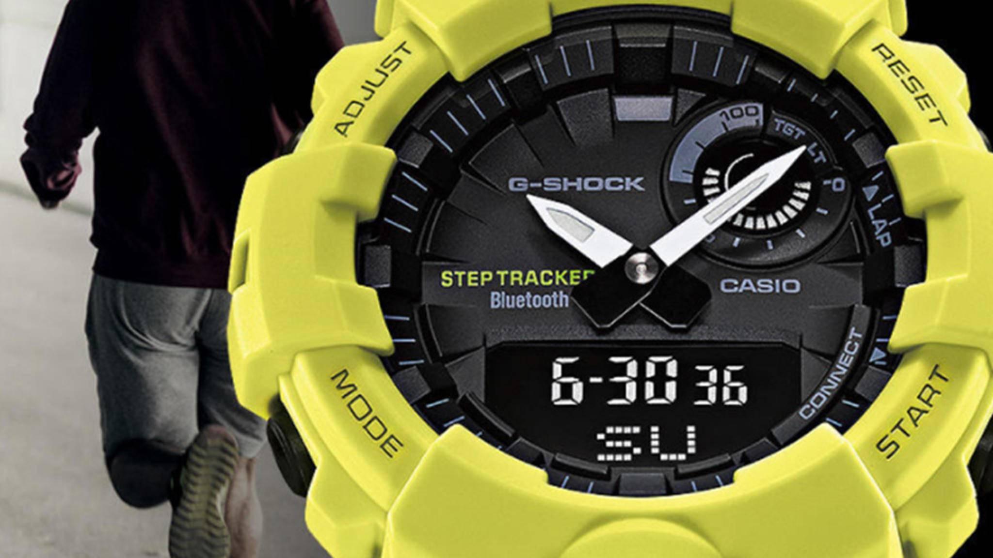 Die GBA-800 trackt sowohl die Schrittzahl als auch das Lauftempo.