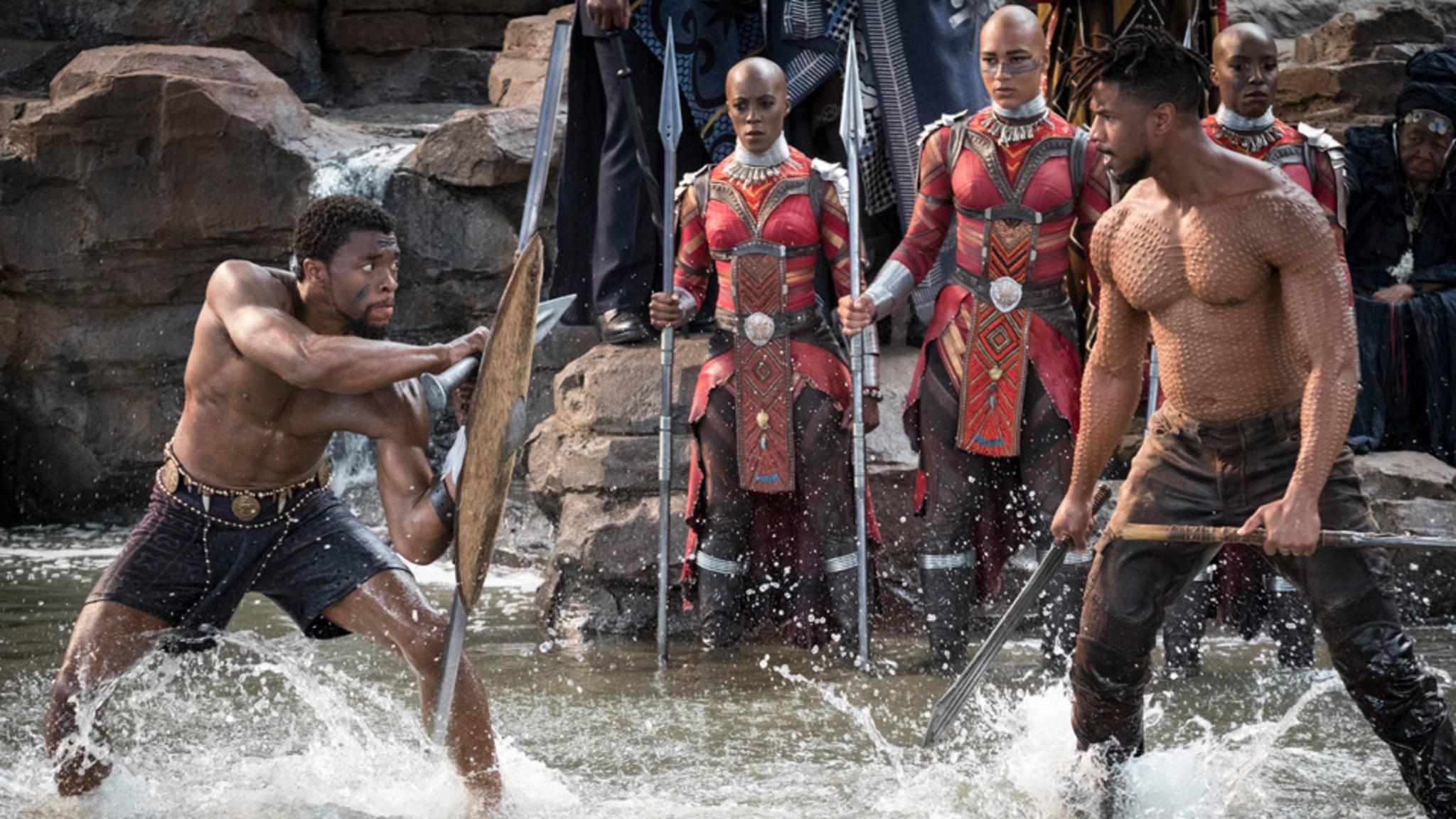 T'Challa Black Panther  Chadwick Boseman Erik Killmonger Michael B. Jordan