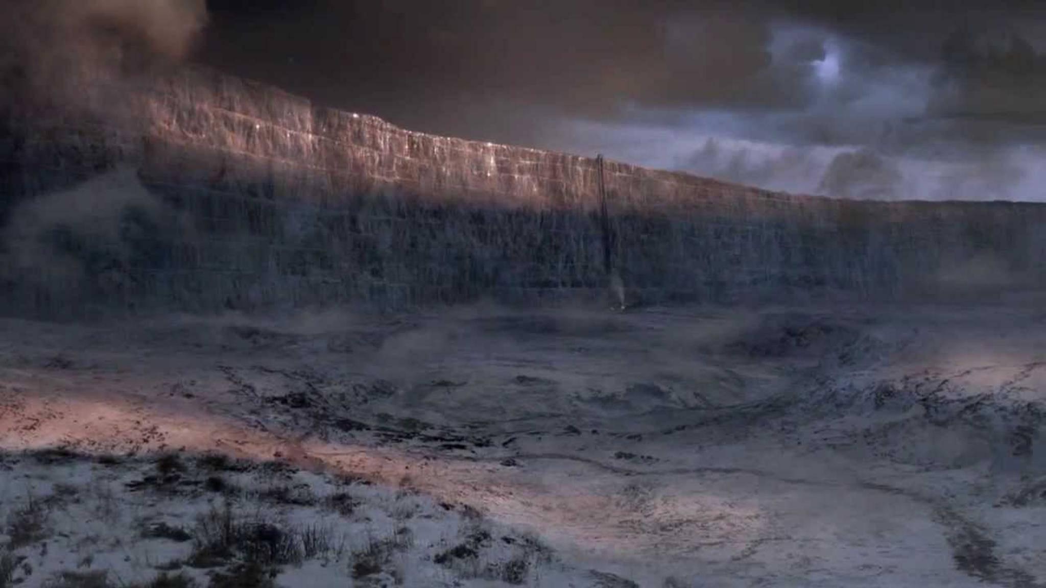 """Die Mauer in """"Game of Thrones"""" wurde effektreich zum Einsturz gebracht."""