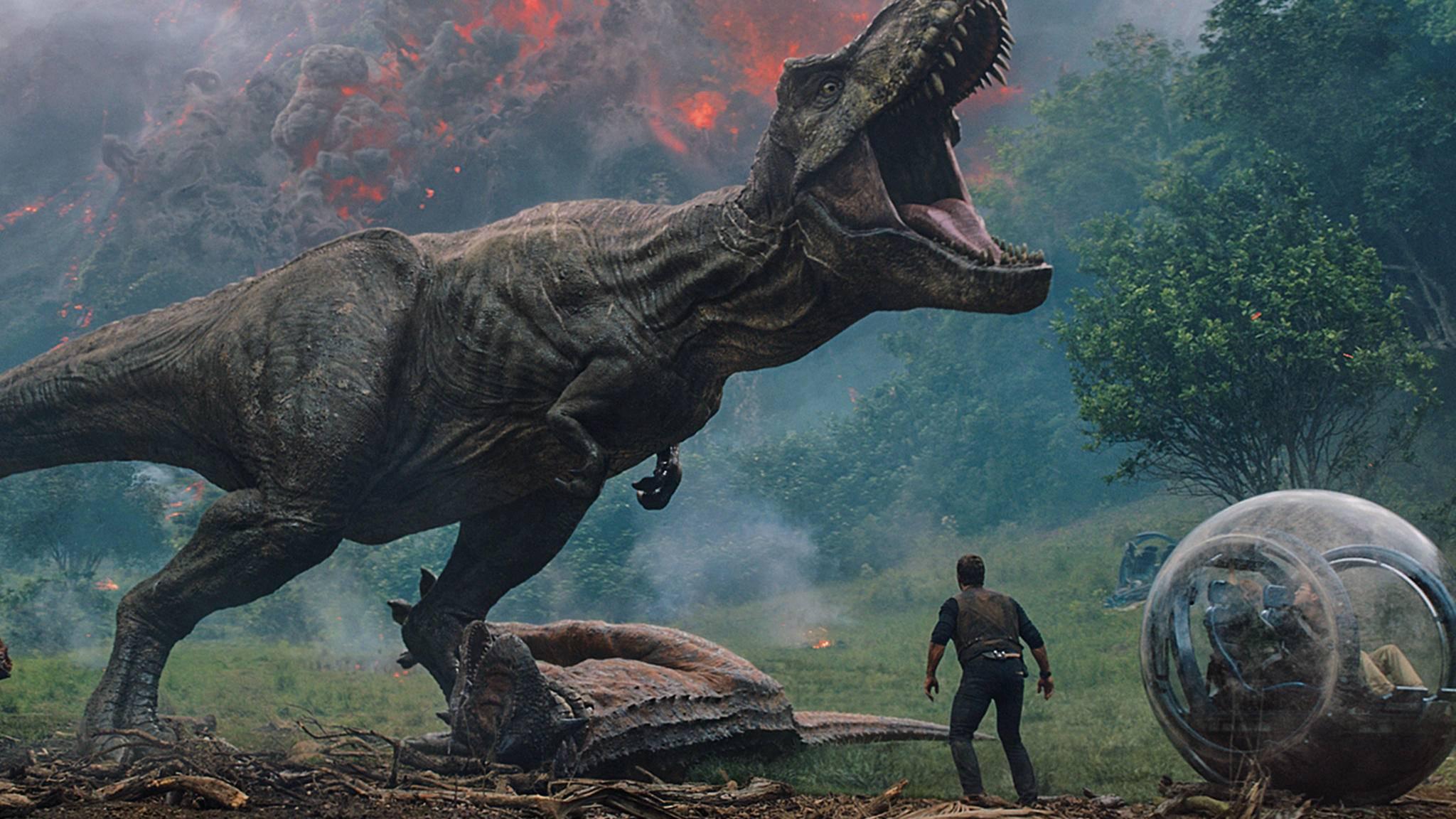 """Ganz schön groß: """"Jurassic World 2"""" beeindruckt nicht nur mit großen Viechern, sondern auch mit hohen Zahlen."""
