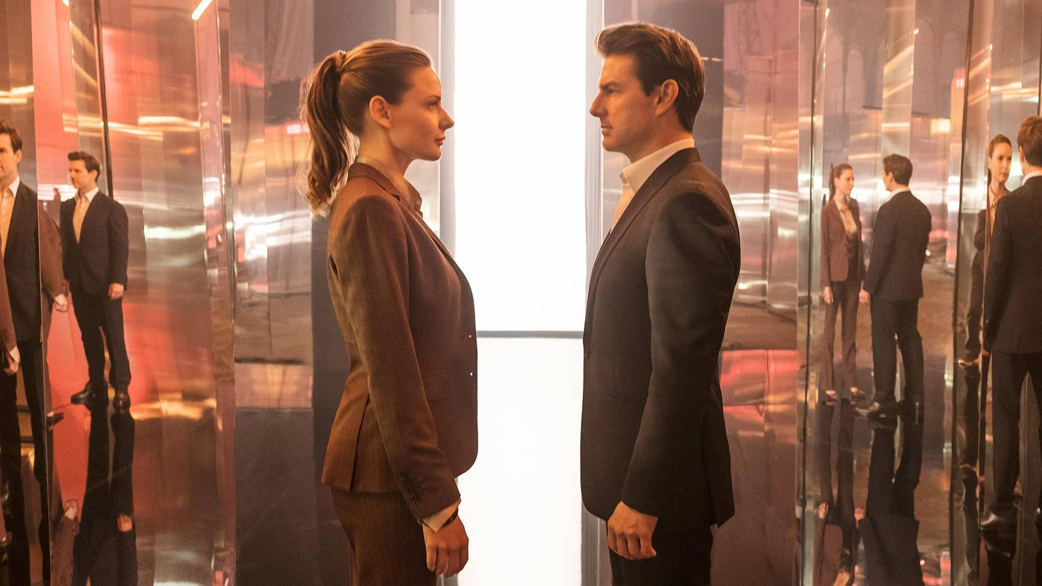 """Kämpfen sich gemeinsam durch ein weiteres """"M:I""""-Sequel: Rebecca Ferguson und Tom Cruise."""