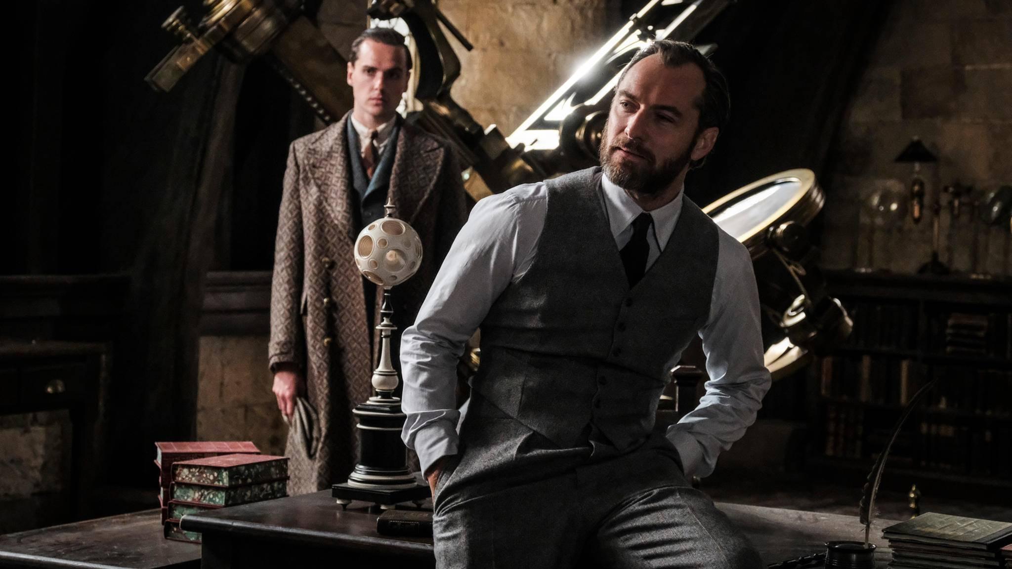 """Vielschichtiger Charakter: Dumbledore (Jude Law) zeigt in """"Phantastische Tierwesen 2"""" offenbar nicht alle seine Facetten."""