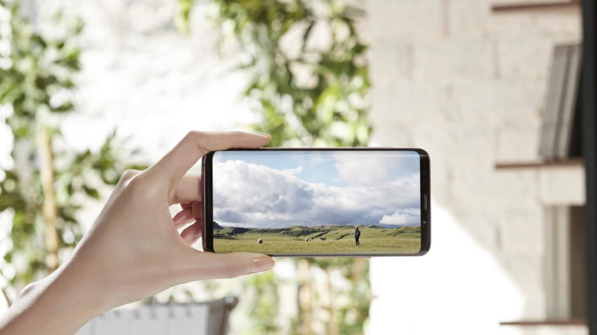 Das Display ist noch heller als beim Galaxy S8.