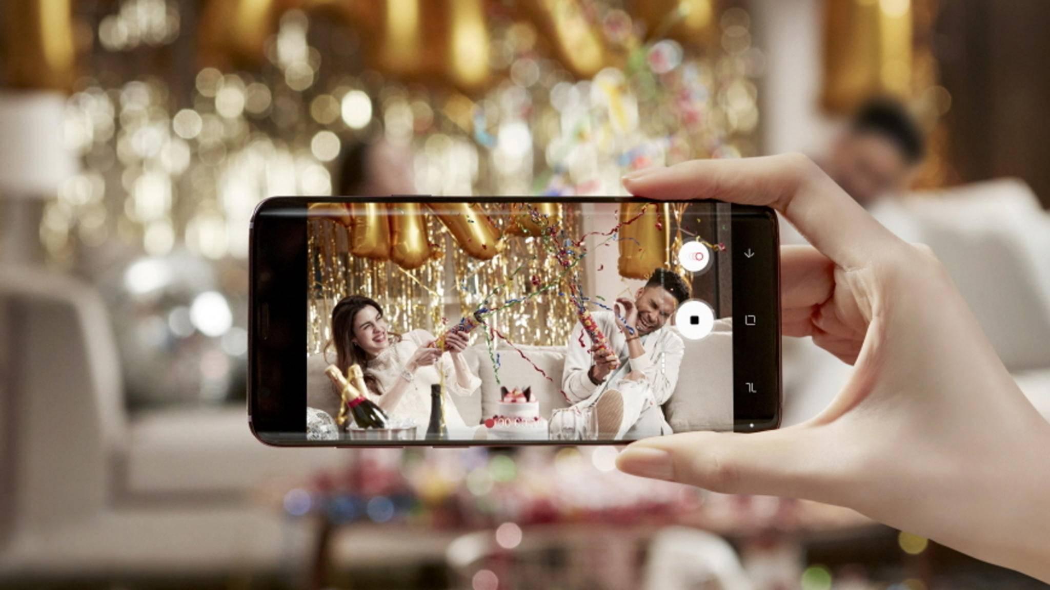 Das Galaxy S9 kann in Super-Slow-Motion filmen.