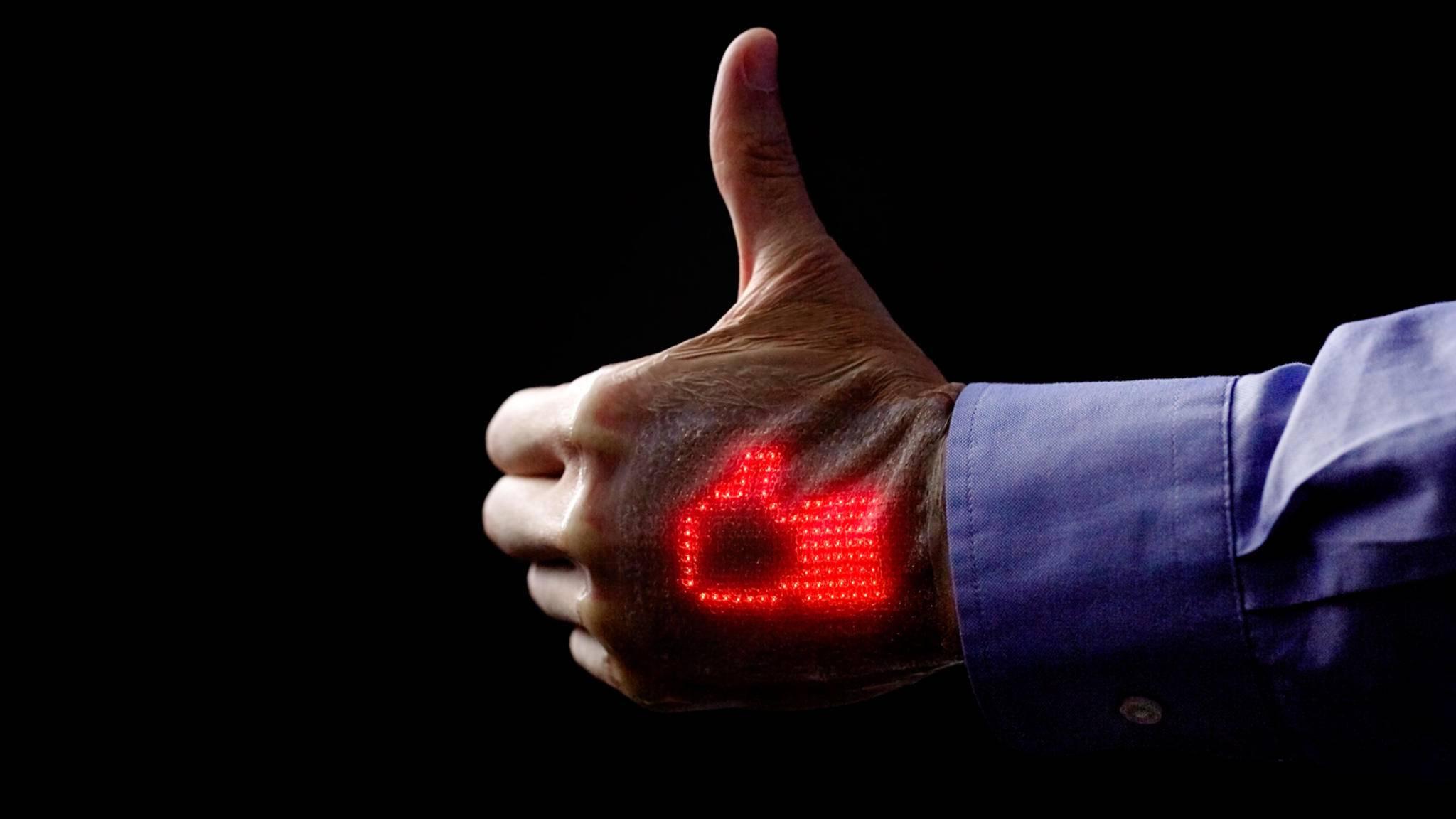 Skin Electronics sollen als neuartige Haut-Displays den Gesundheitssektor revolutionieren.
