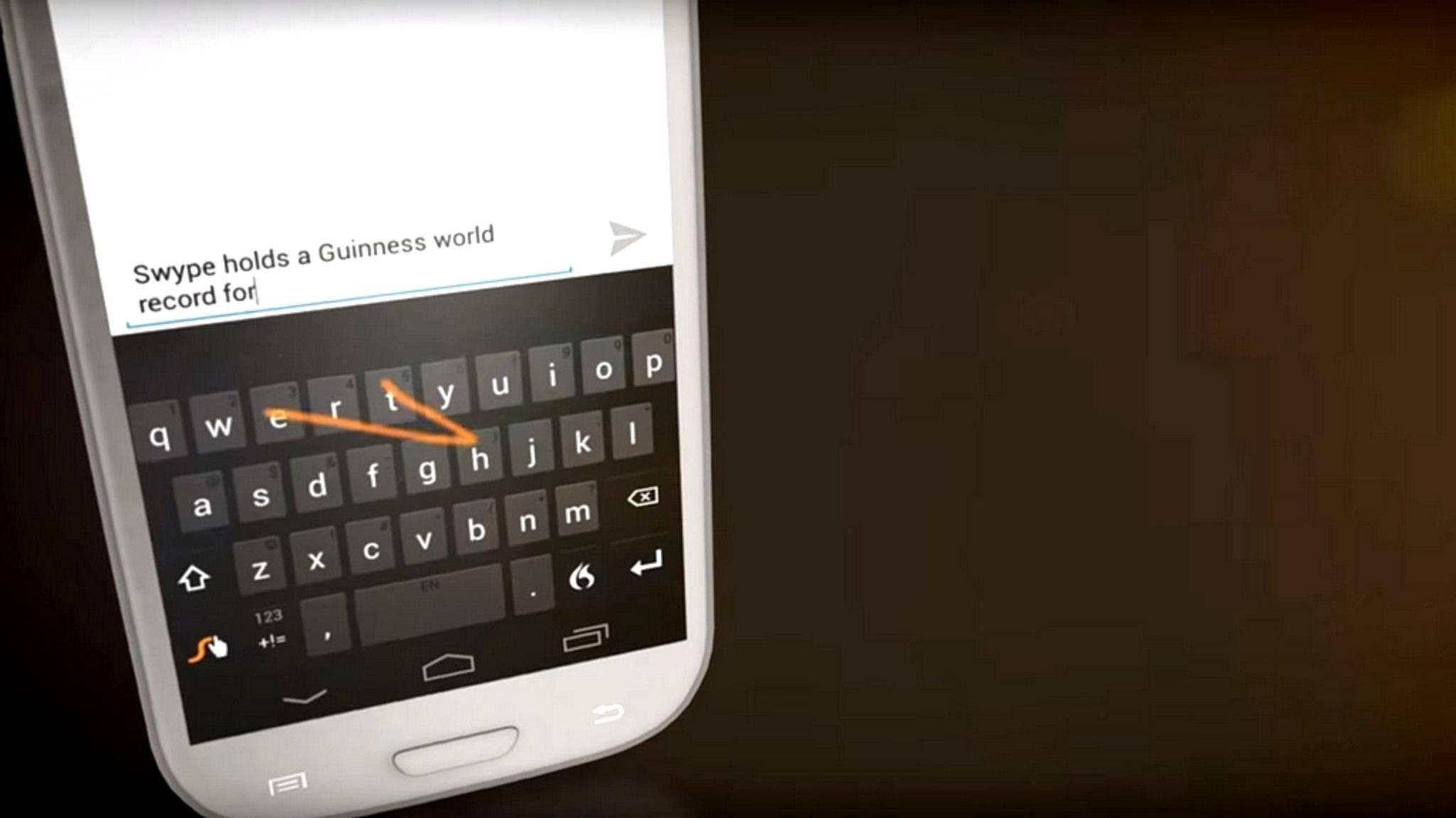 Swype war eine der beliebtesten Tastatur-Apps.