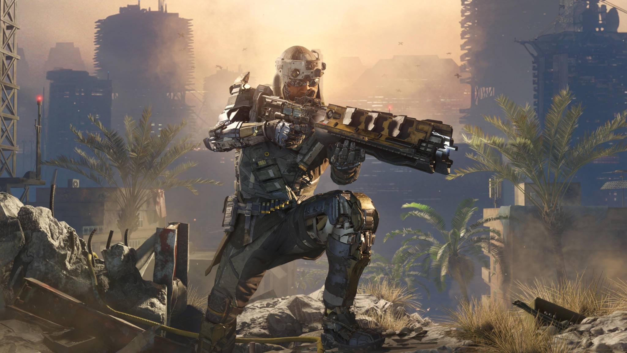 """Das Artwork für """"Call of Duty: Black Ops 4"""" ist nicht ganz so futuristisch wie das von """"Black Ops 3"""", aber dicht dran."""