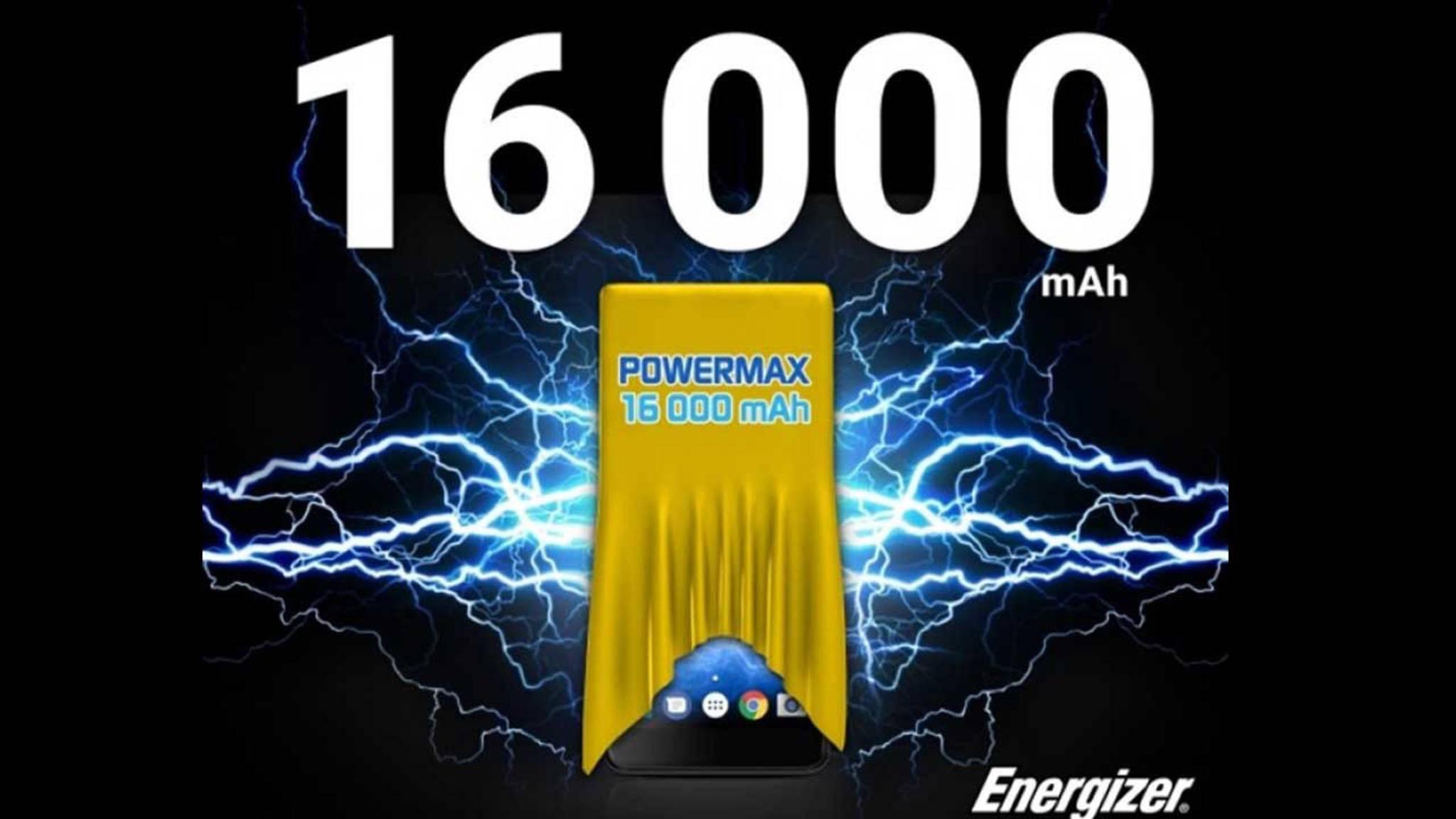 Mit einem 16.000-mAh-Akku dürfte das neue Energizer-Smartphone nicht so schnell die Puste ausgehen.