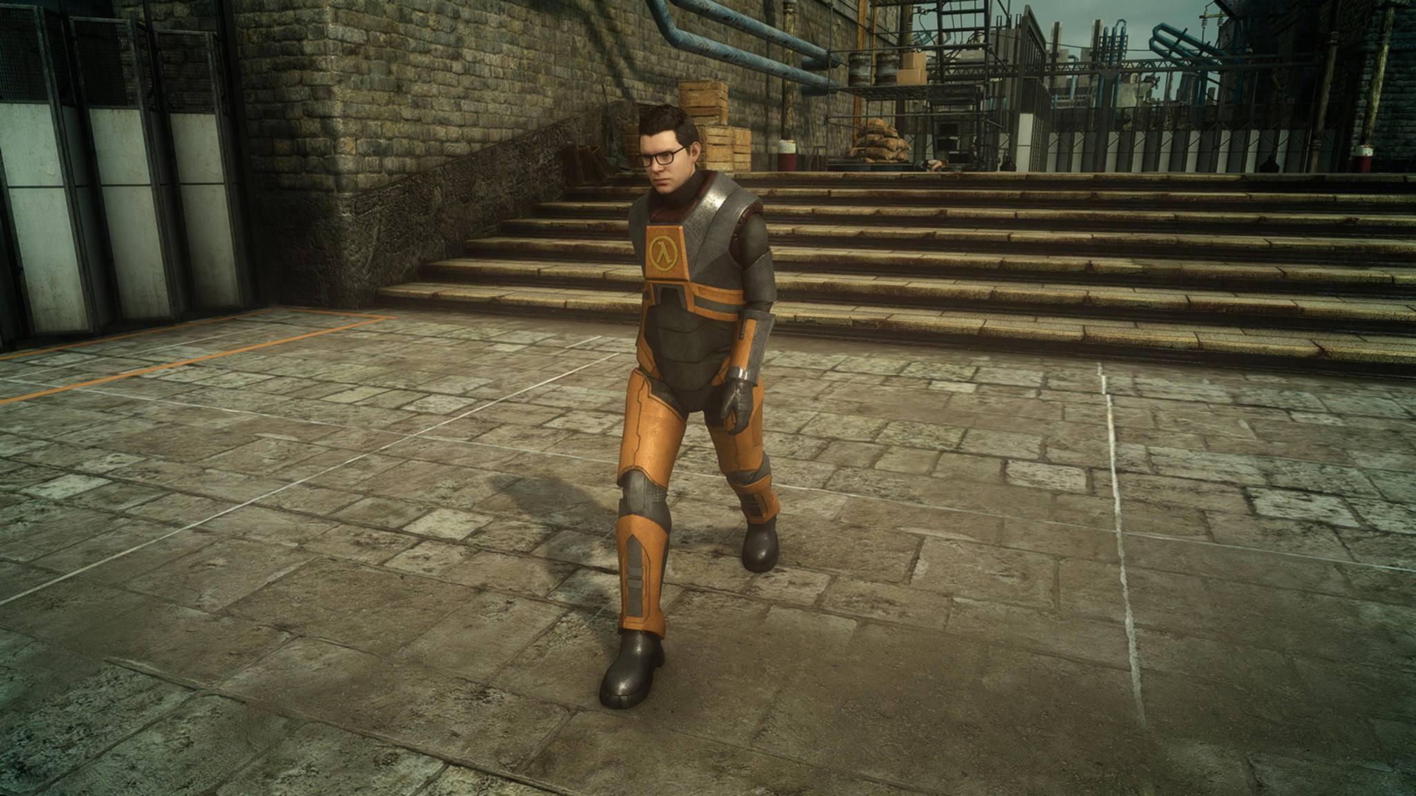"""""""Final Fantasy 15"""" für Windows mit Half-Life-Anzug"""