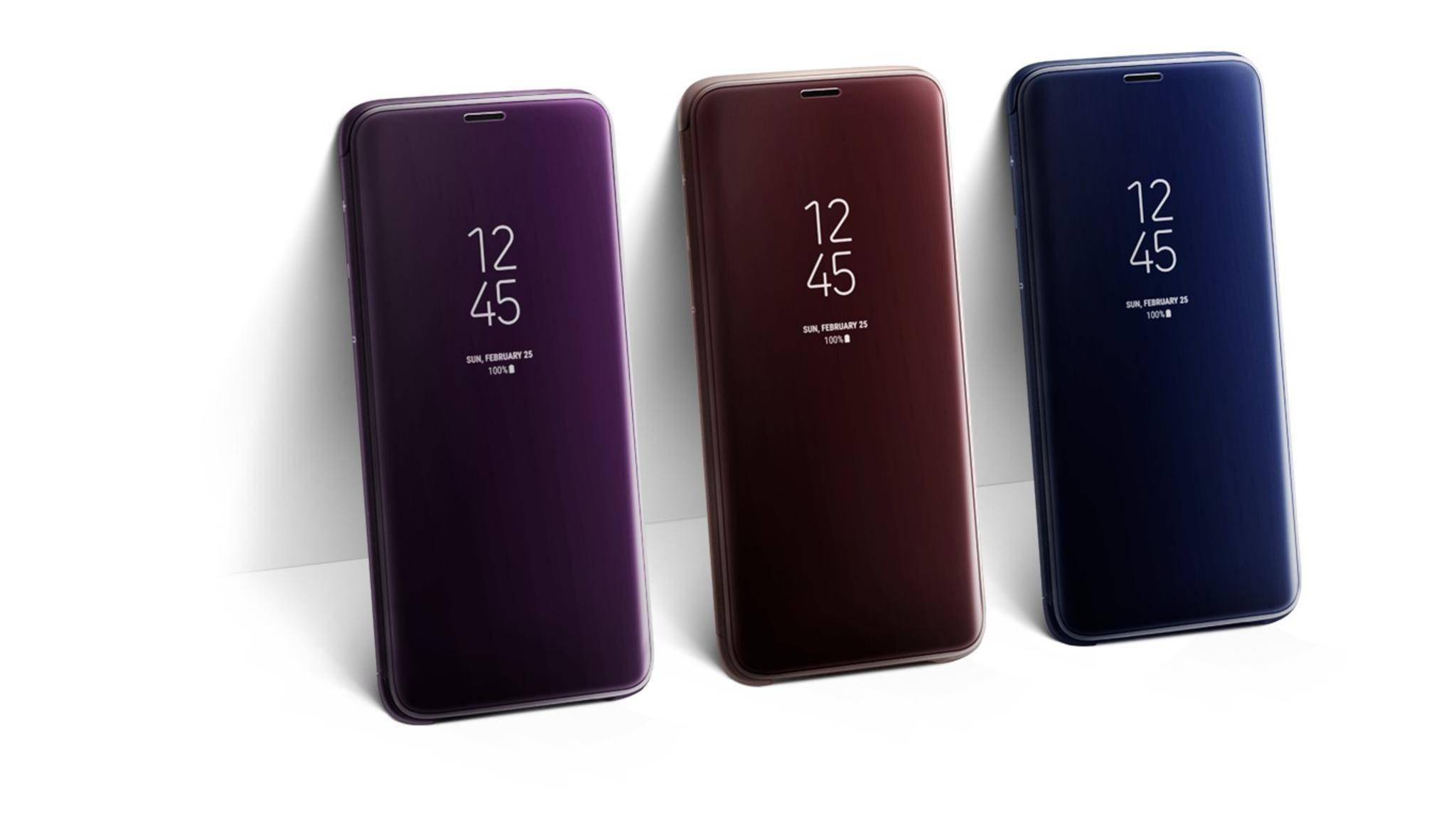 Das Clear View Standing Cover ist eines von sechs neuen Samsung-Hüllen für das Galaxy S9.