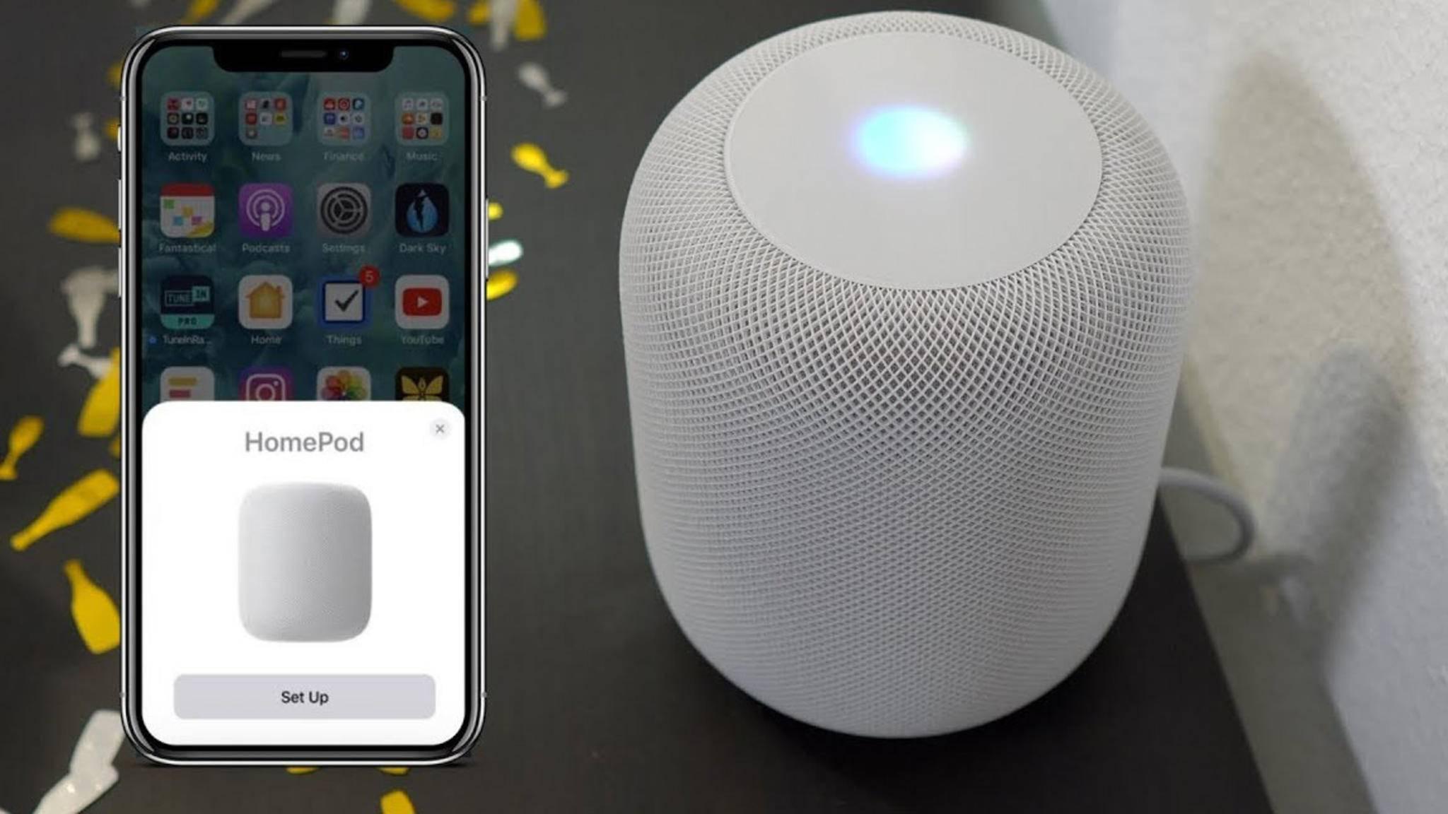 Der HomePod kann zwar Bluetooth, nutzt das aber nur für die Einrichtung.
