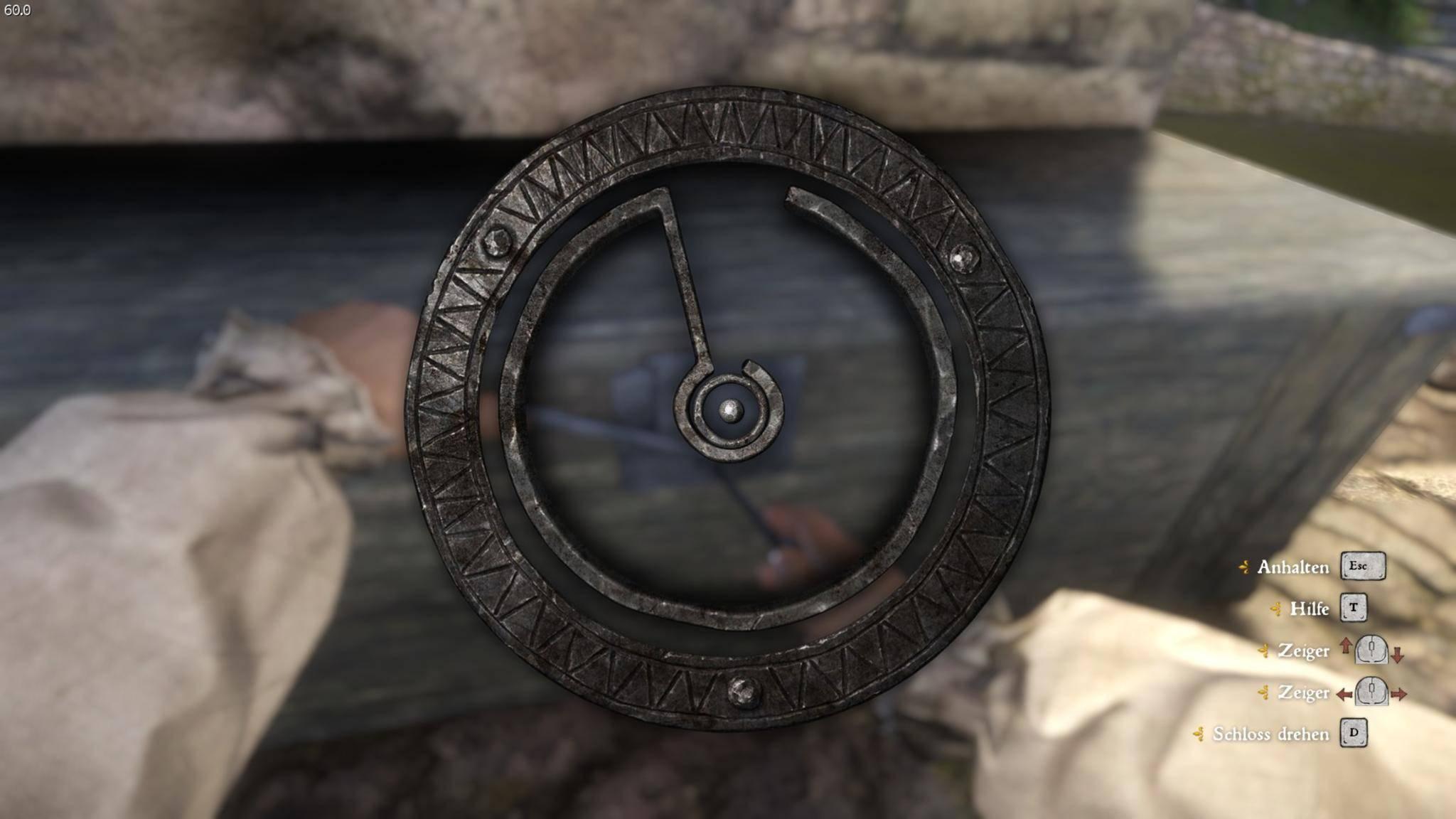 Die Ausgangssituation: Der Ring-Cursor sitzt in der Mitte des Schlosses.