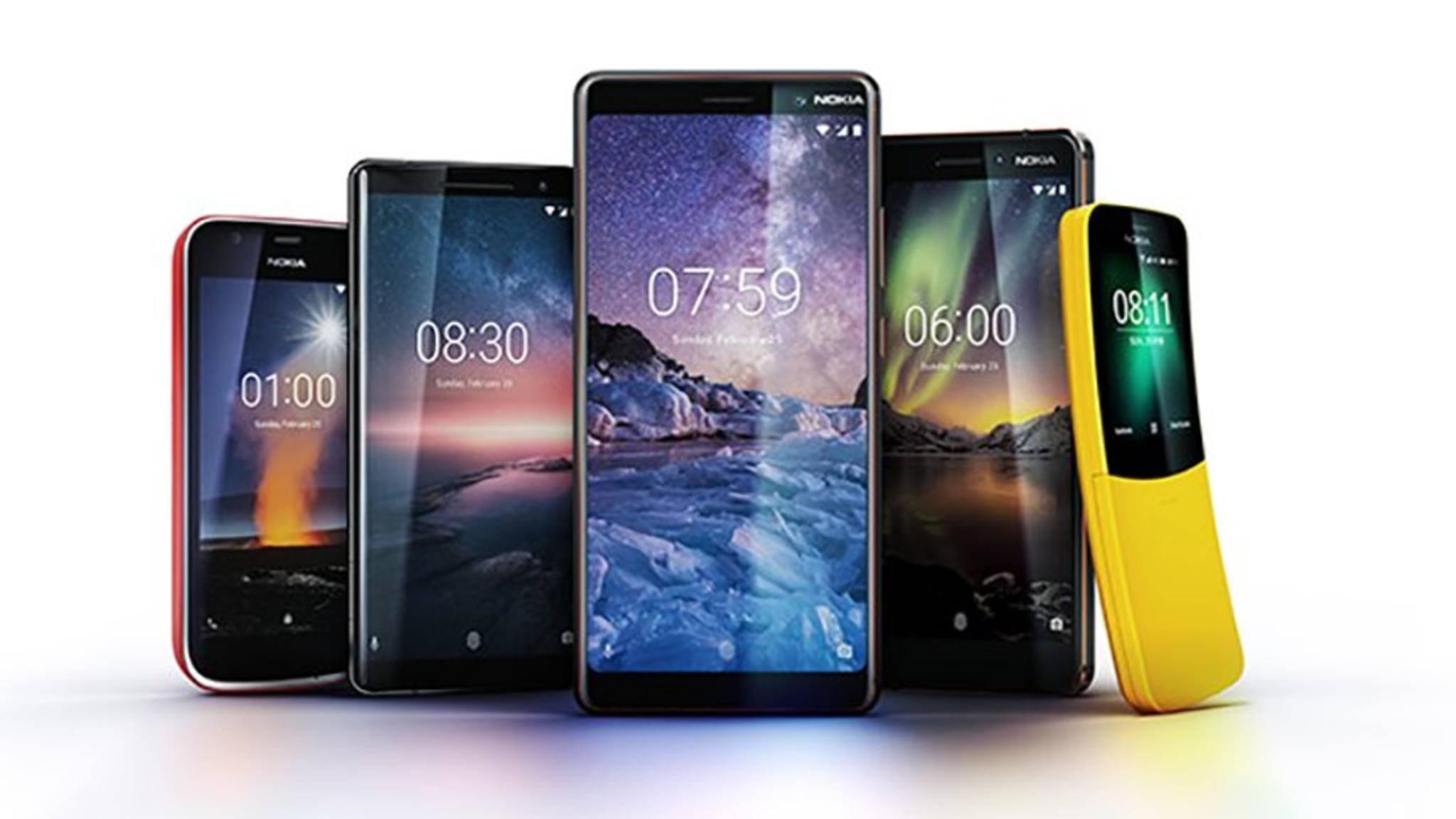 Vom Einsteigermodell bis hin zum Flaggschiff: Auf dem MWC 2018 präsentierte Nokia zahlreiche neue Smartphones.