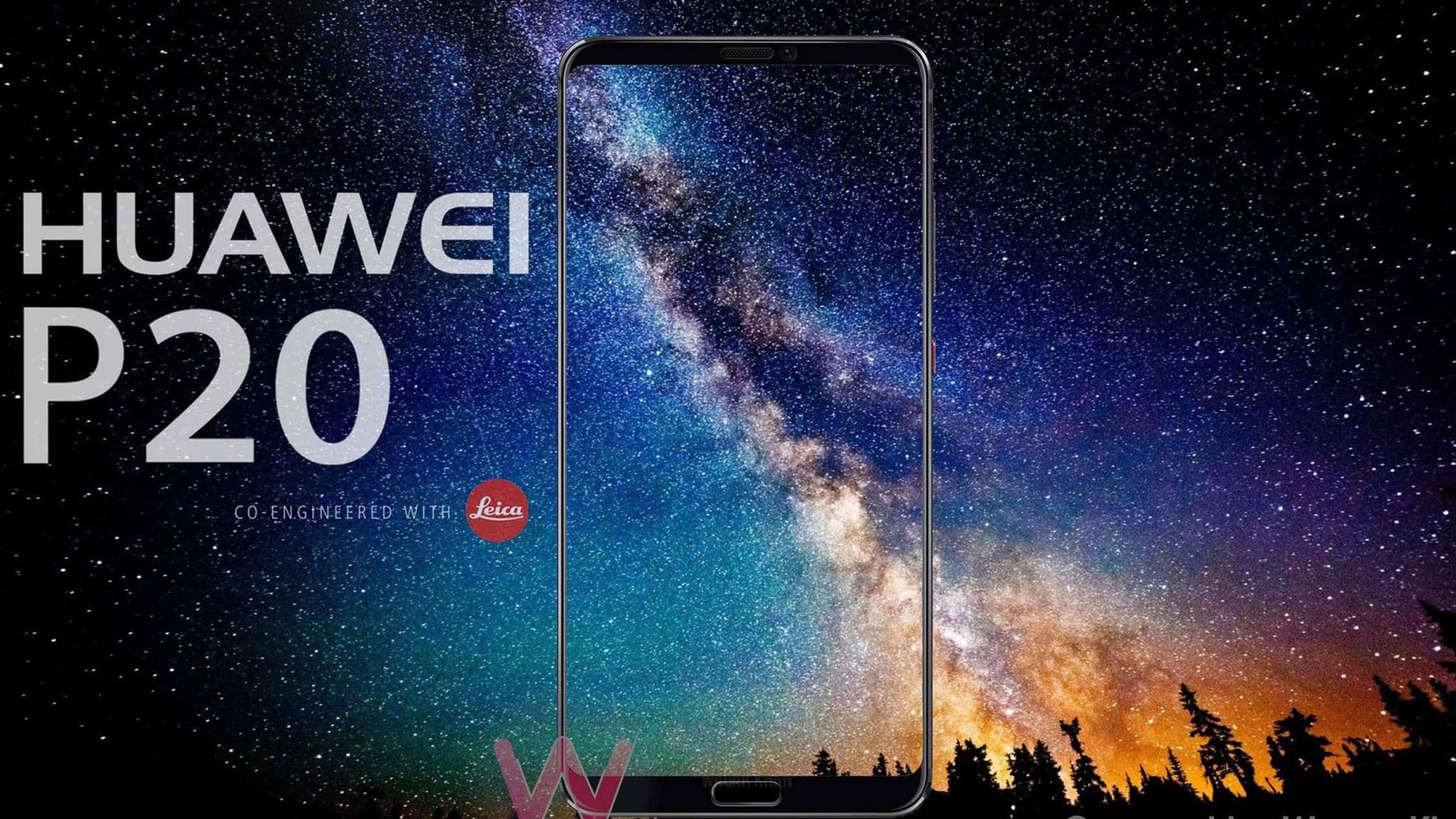 Soll Ende März in Paris enthüllt werden: Das Huawei P20.