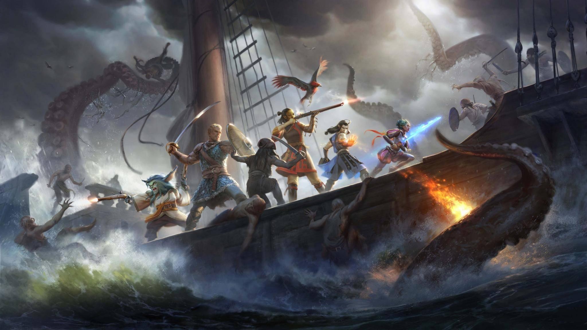 """So bombastisch wie in der Werbung wirken die Seeschlachten in """"Pillars of Eternity 2: Deadfire"""" nicht."""