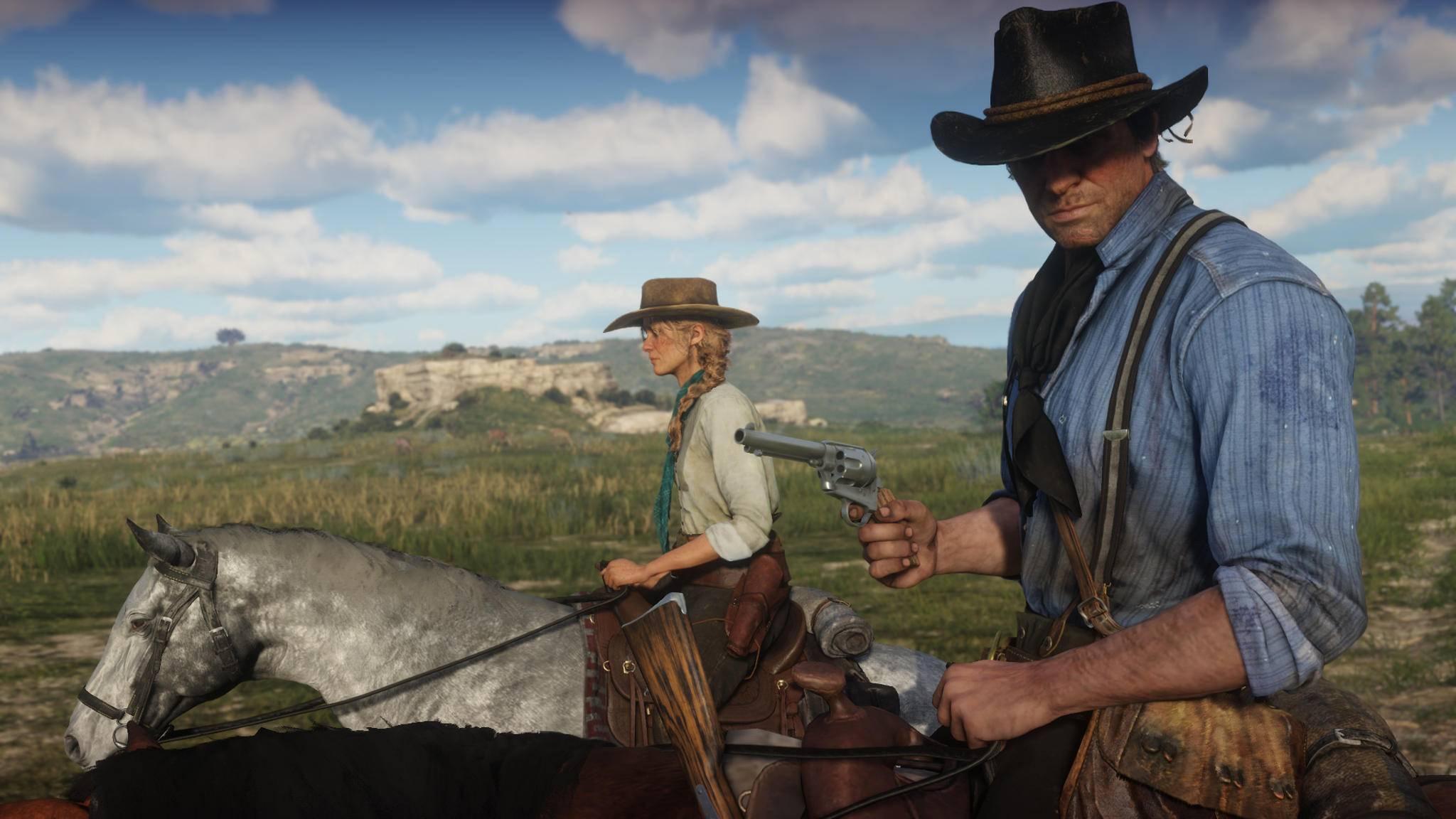 """Welche Teile von """"Red Dead Redemption 2"""" werden wohl vorerst PS4-Spielern vorbehalten sein?"""