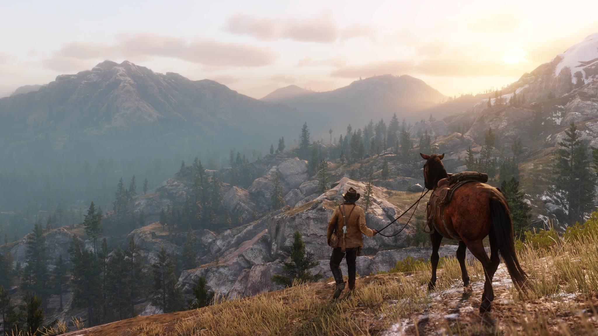 """Die Welt von """"Red Dead Redemption 2"""" ist so groß, dass sogar der Vorgänger noch mit reinpasst."""